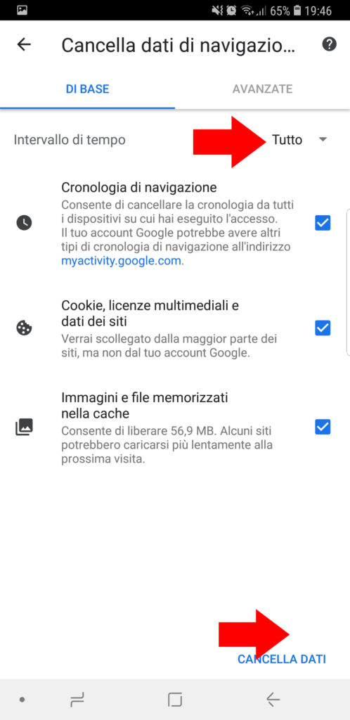 cancellare cronologia google chrome 003