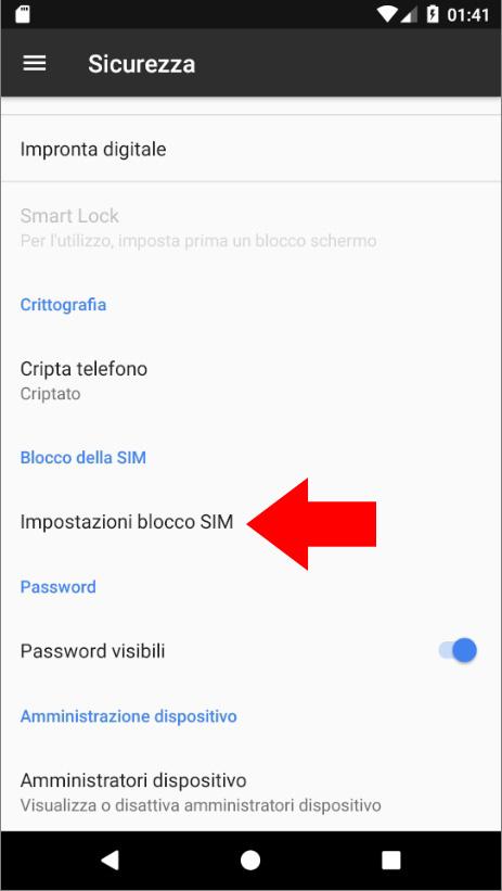Android 7 -Blocco SIM