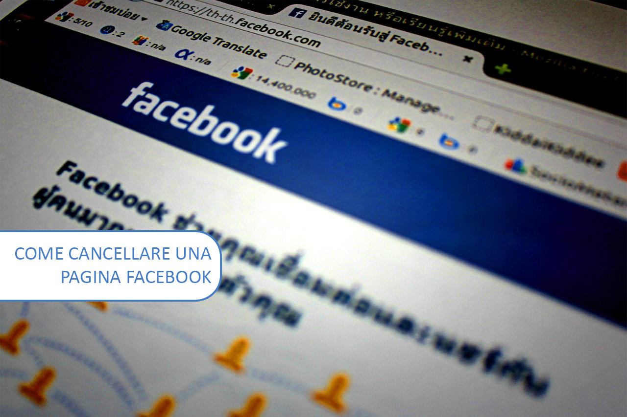 Come cancellare una pagina Facebook