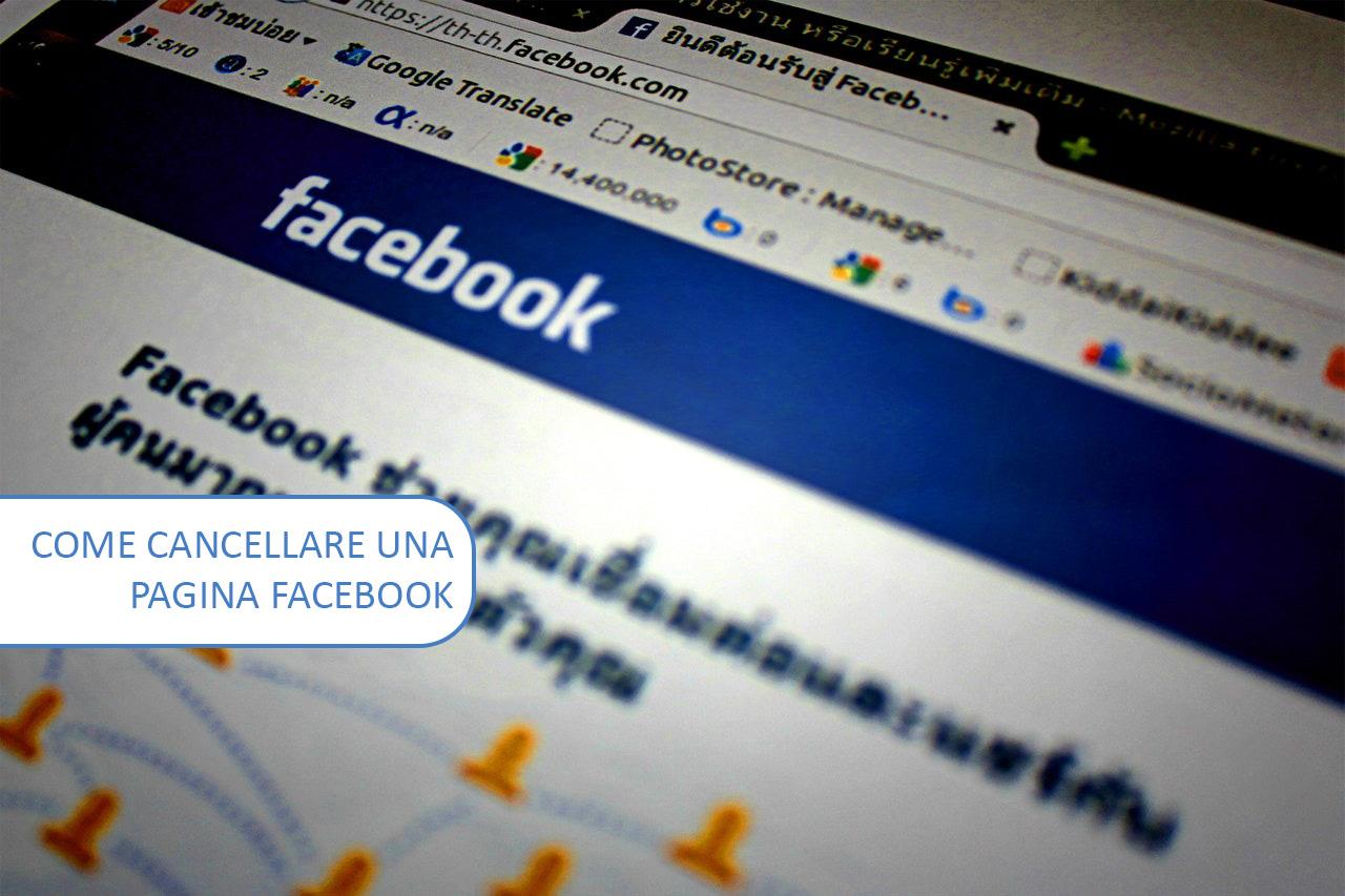 Come cancellare una pagina Facebook