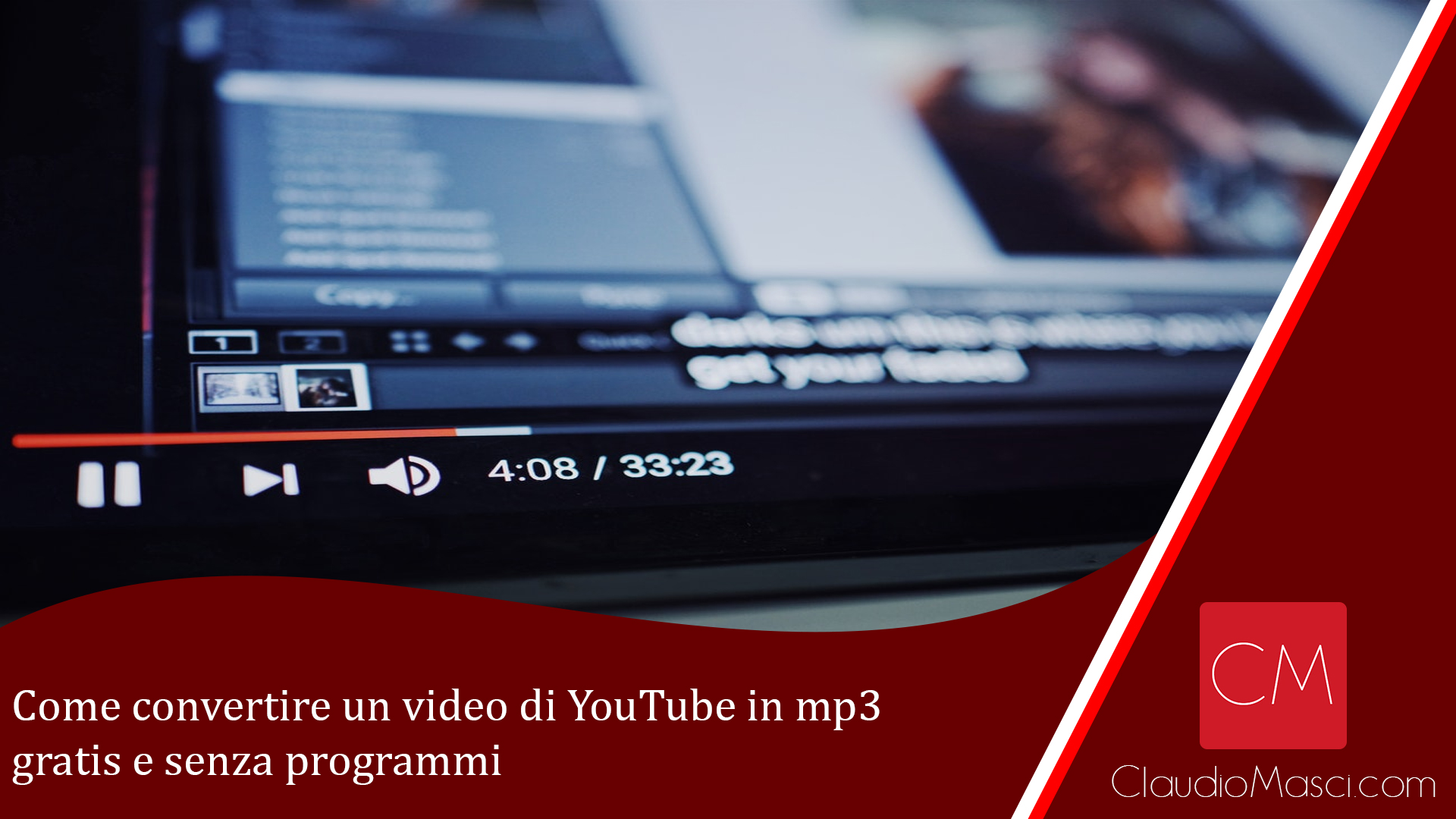 Come convertire un video di YouTube in mp3 gratis e senza programmi