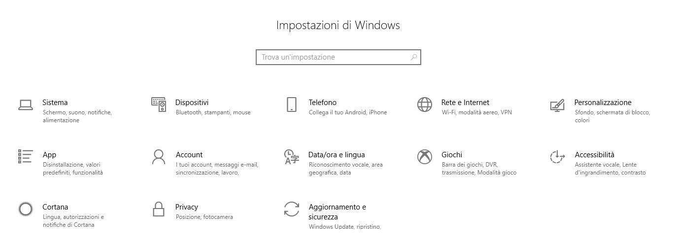 Ripristinare Windows 10 alle impostazioni di fabbrica