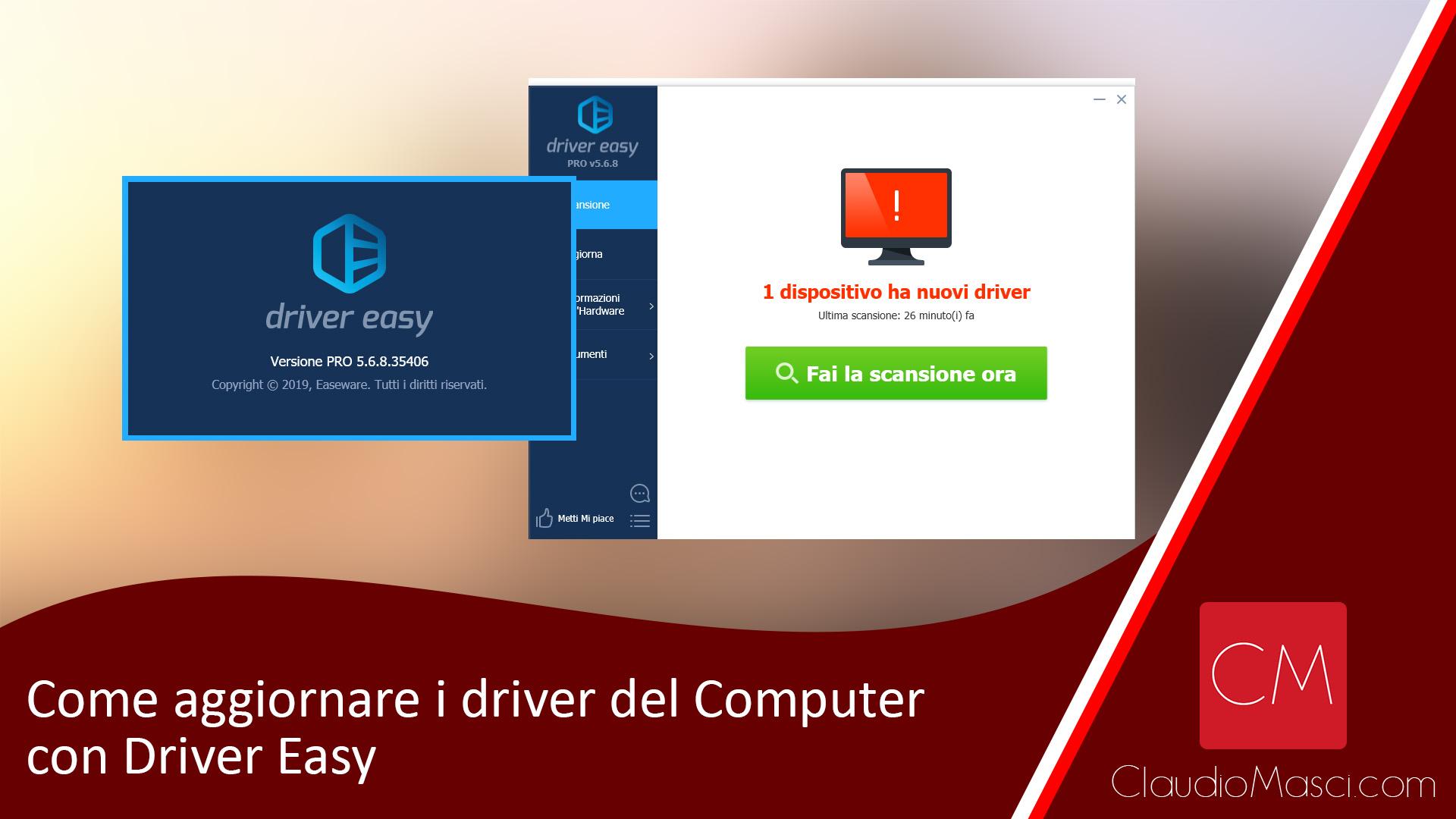 Come aggiornare i driver del Computer con Driver Easy