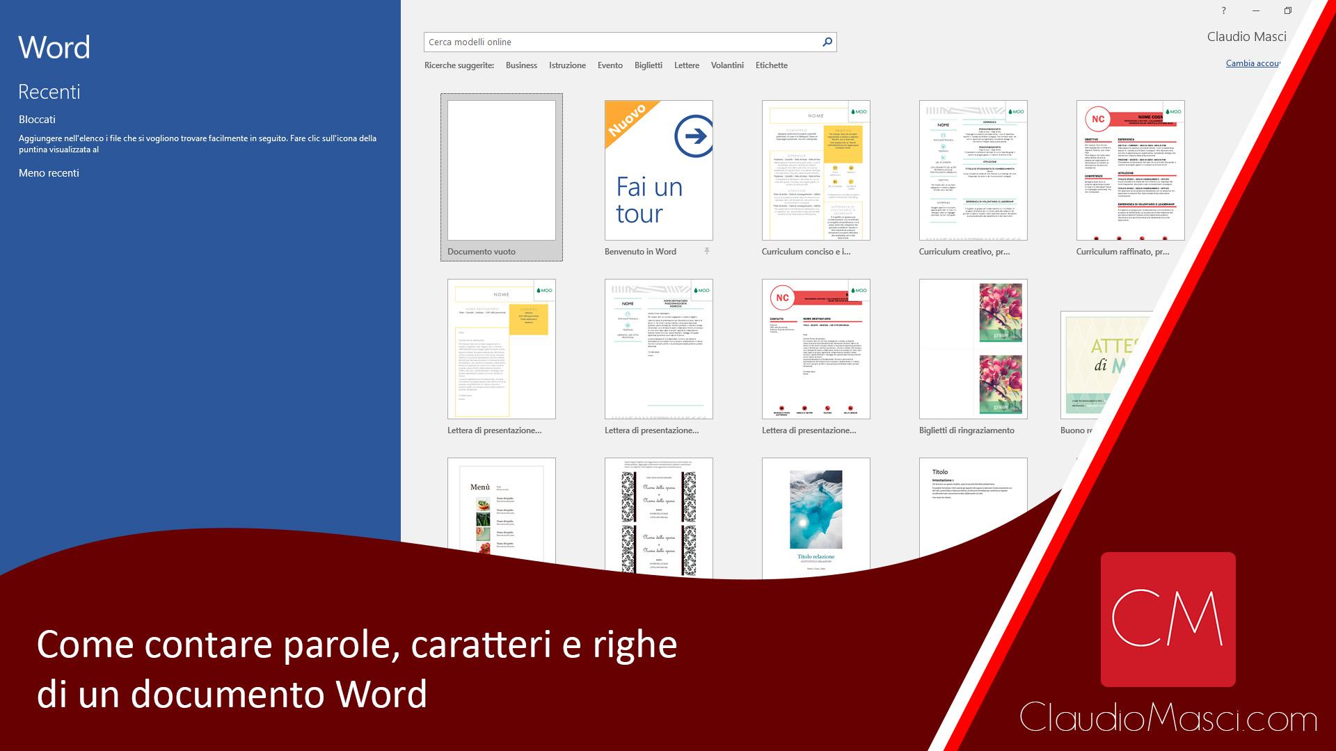 Come contare parole, caratteri e righe di un documento Word
