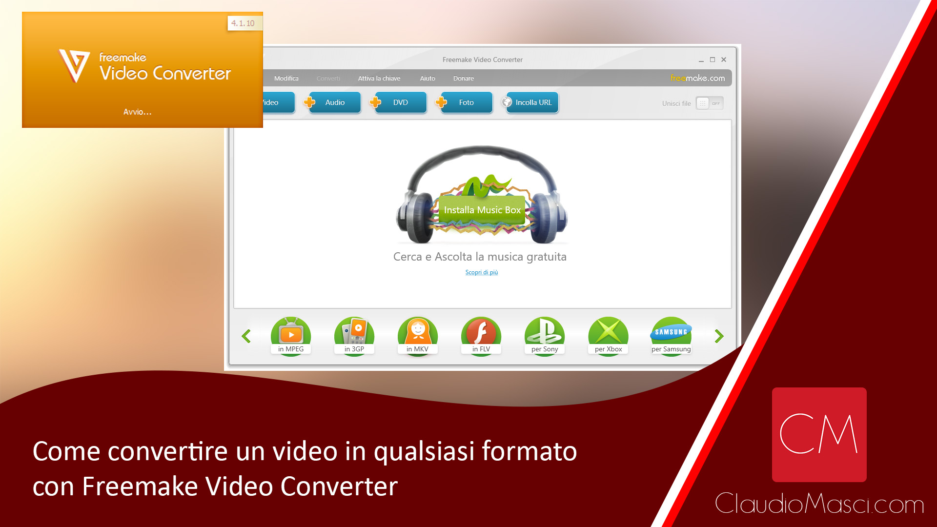 Come convertire un video in qualsiasi formato con Freemake Video Converter