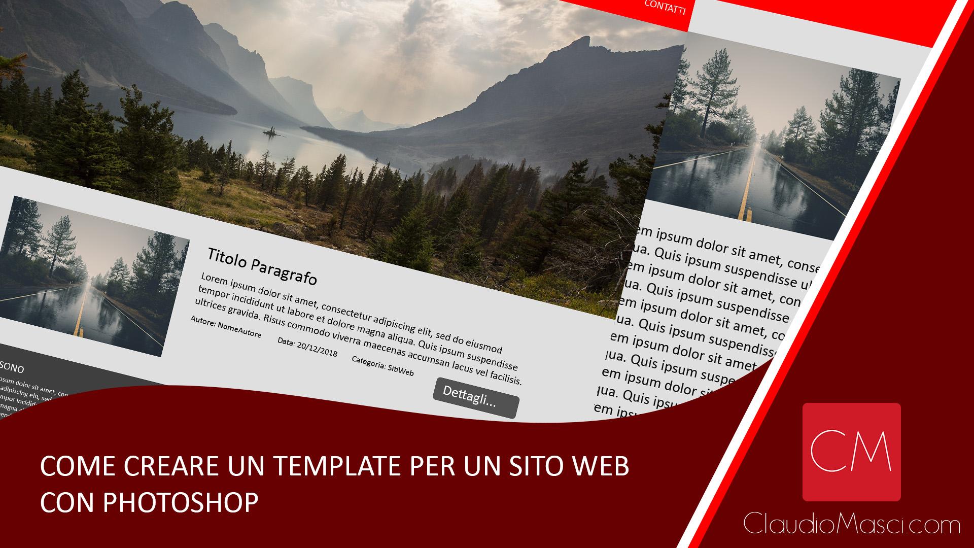 Come creare un template per un sito web con Photoshop