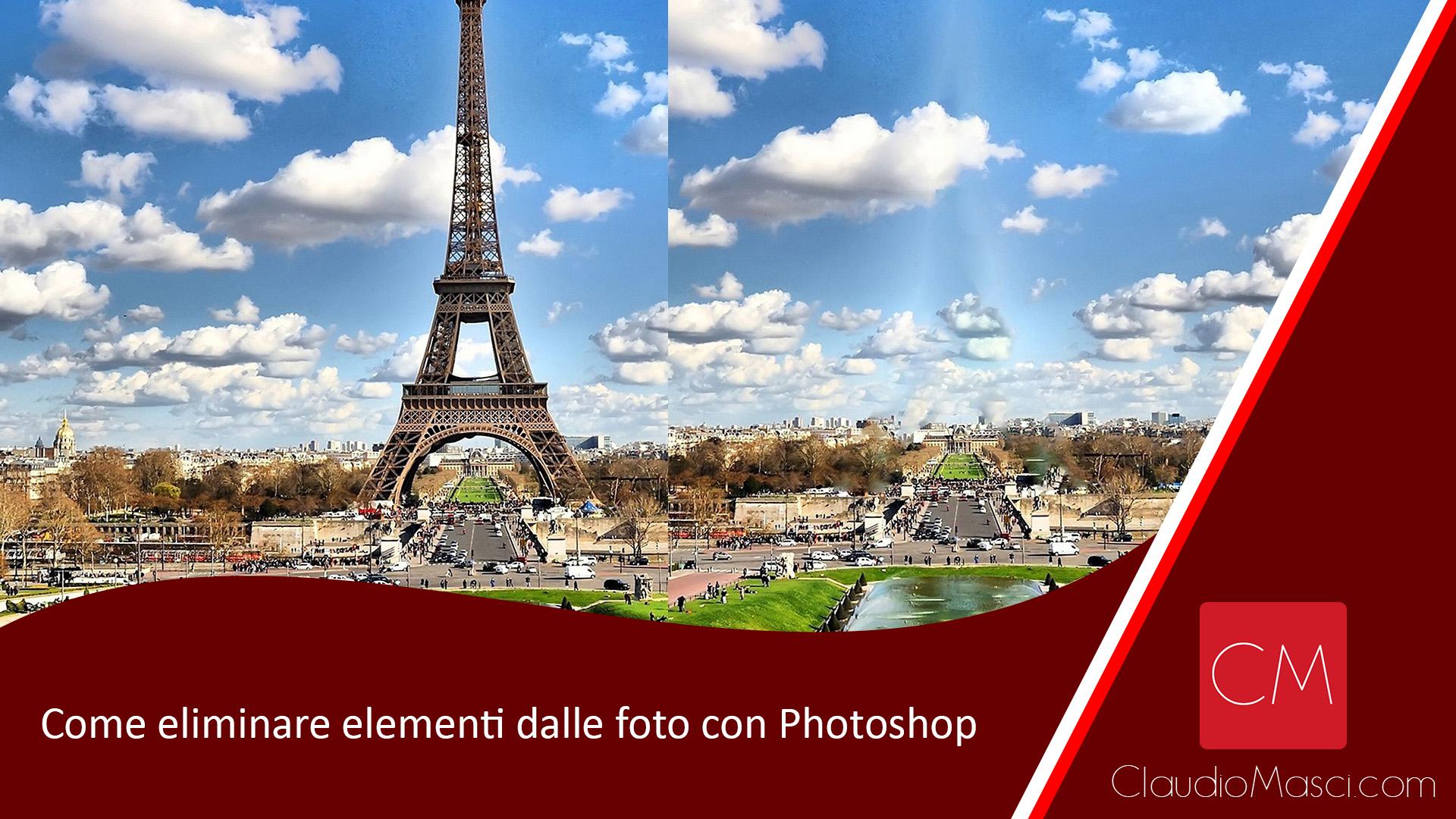 Come eliminare elementi dalle foto con Photoshop