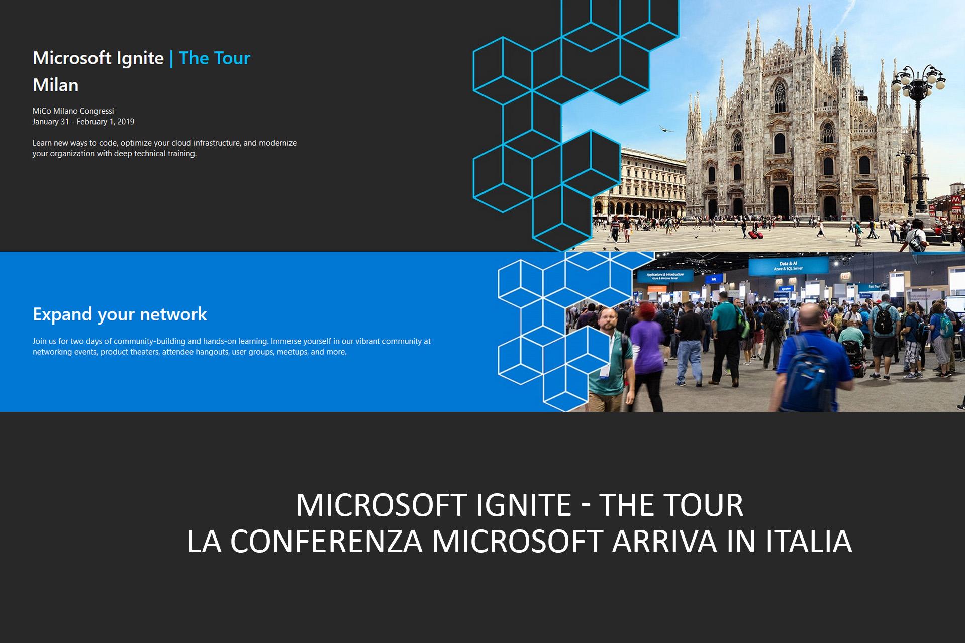 Microsoft Ignite – The Tour | La conferenza Microsoft arriva in Italia