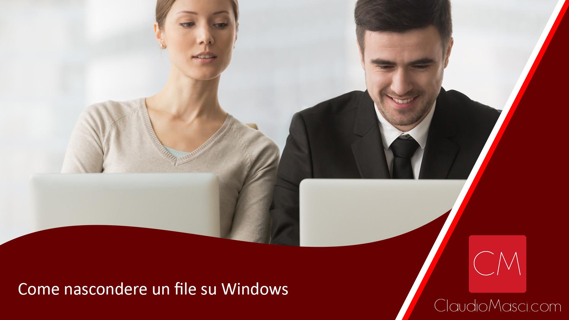 Come nascondere un file su Windows