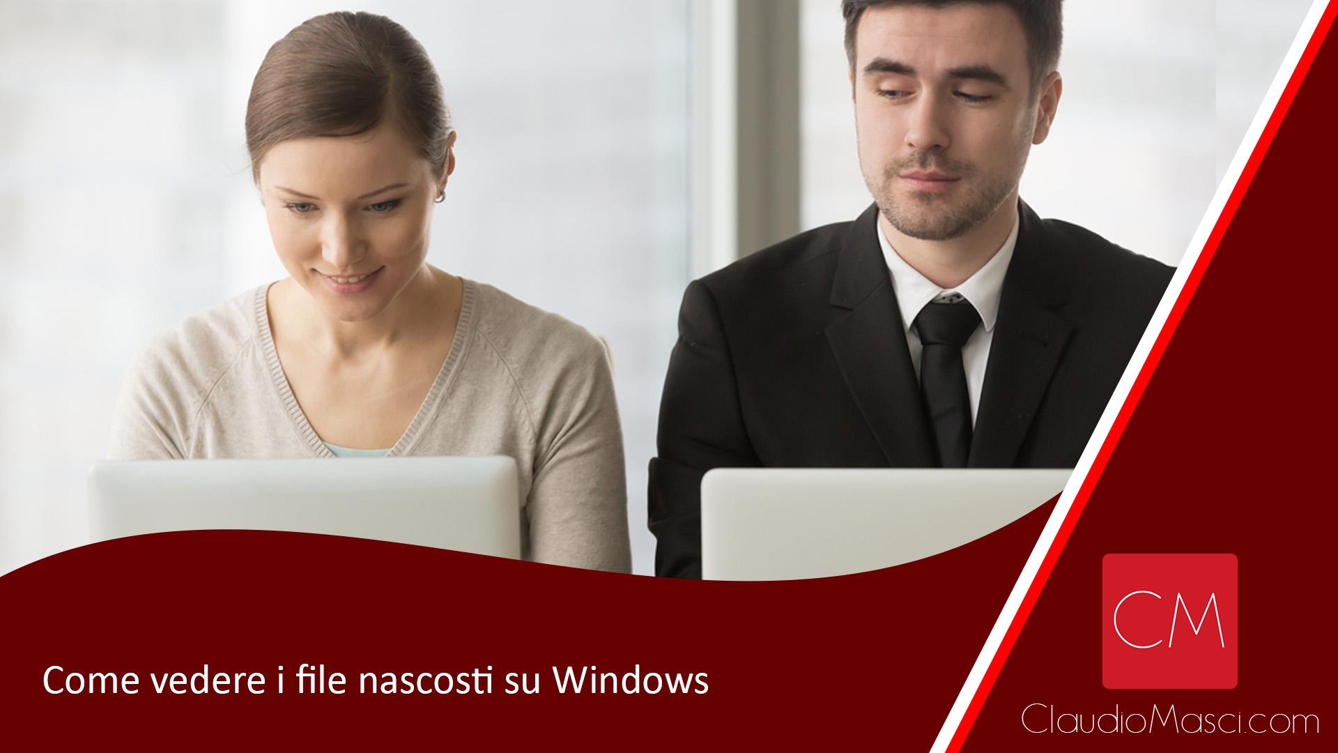 Come vedere i file nascosti su Windows