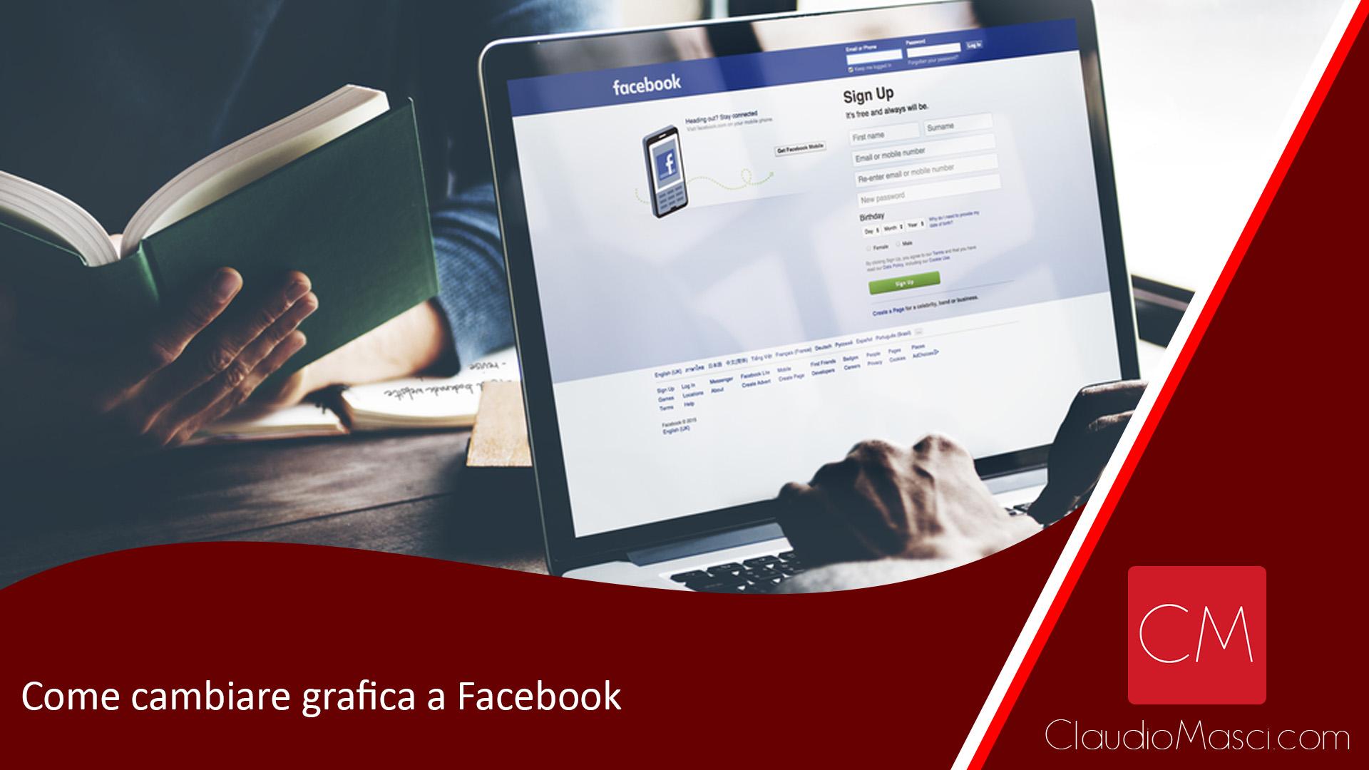 Come cambiare grafica a Facebook