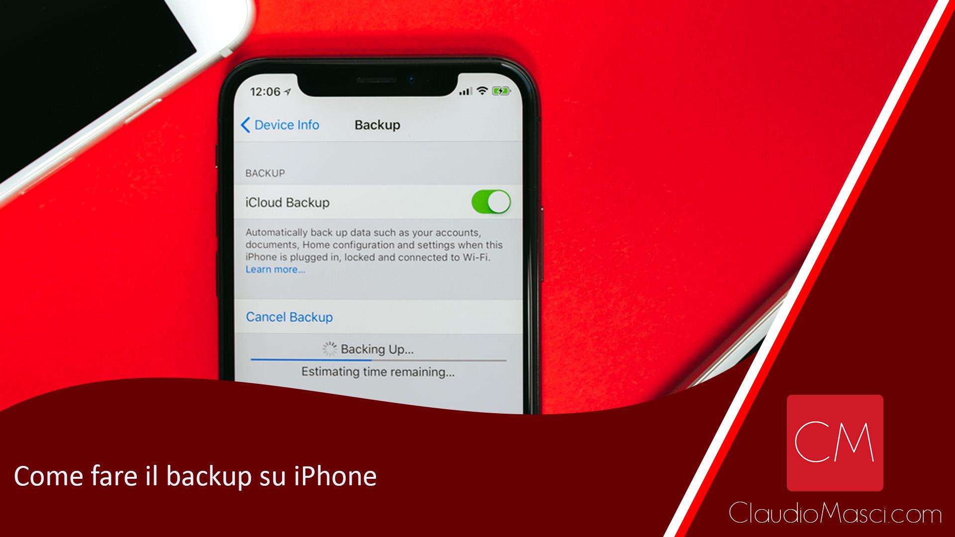 Come fare il backup su iPhone