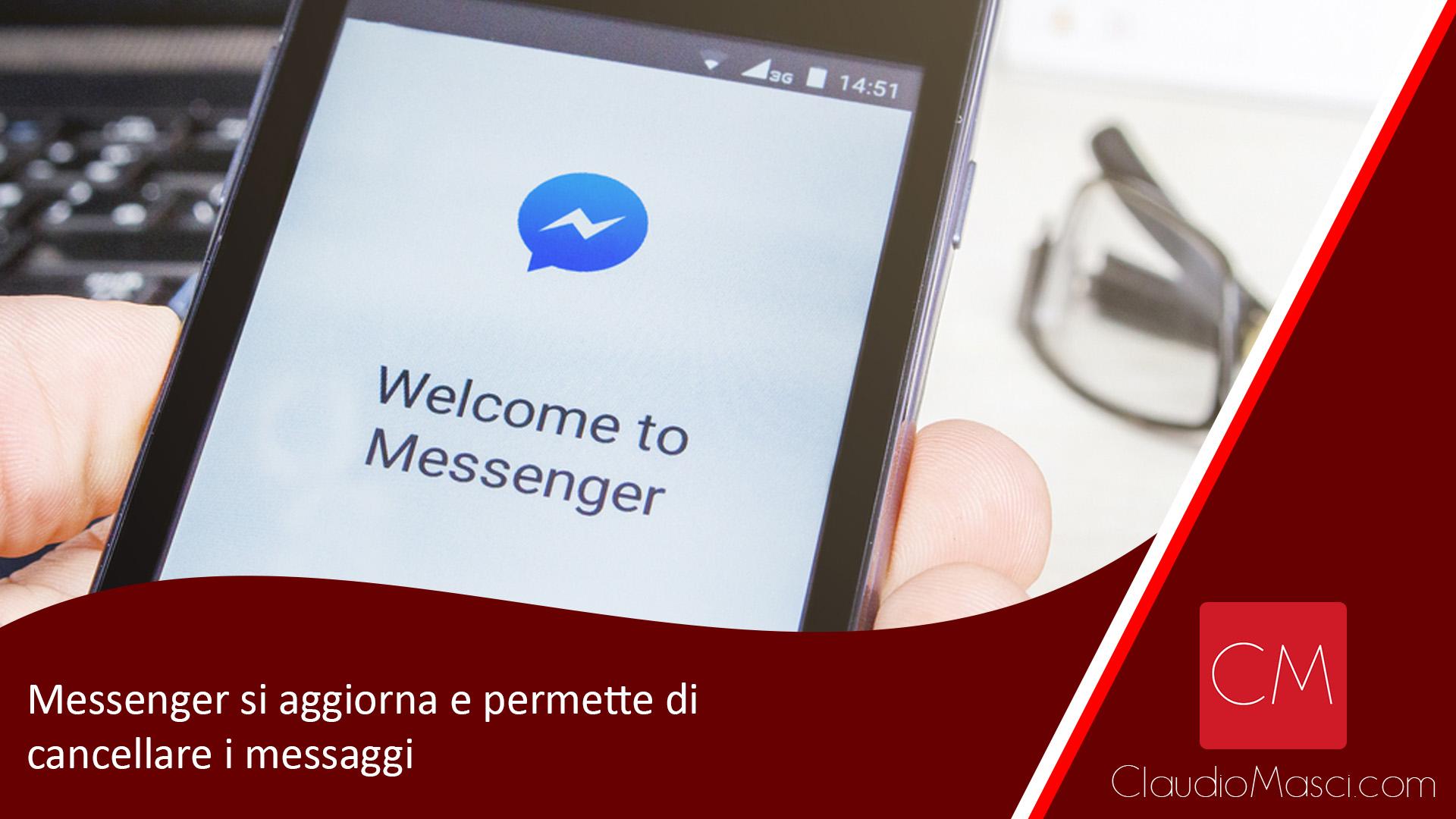 Messenger si aggiorna e permette di cancellare i messaggi