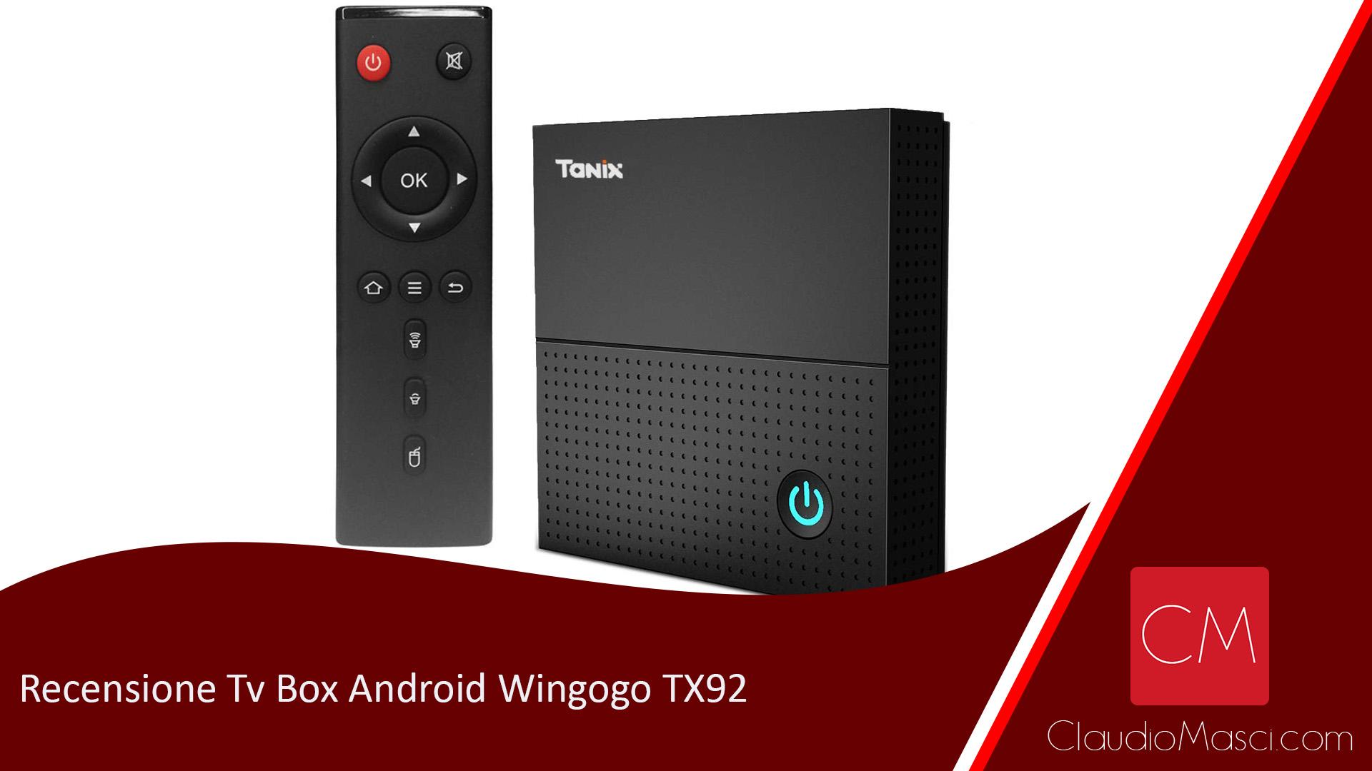 Recensione Tv Box Android Wingogo TX92