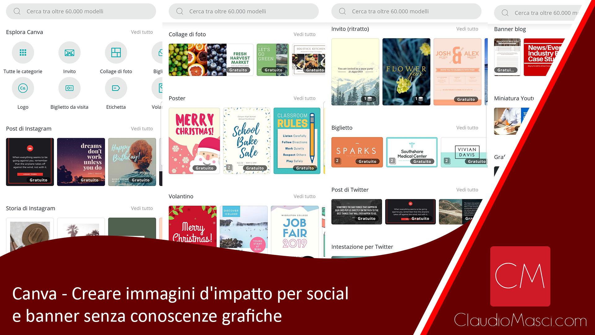 Canva – Creare immagini d'impatto per social e banner senza conoscenze grafiche