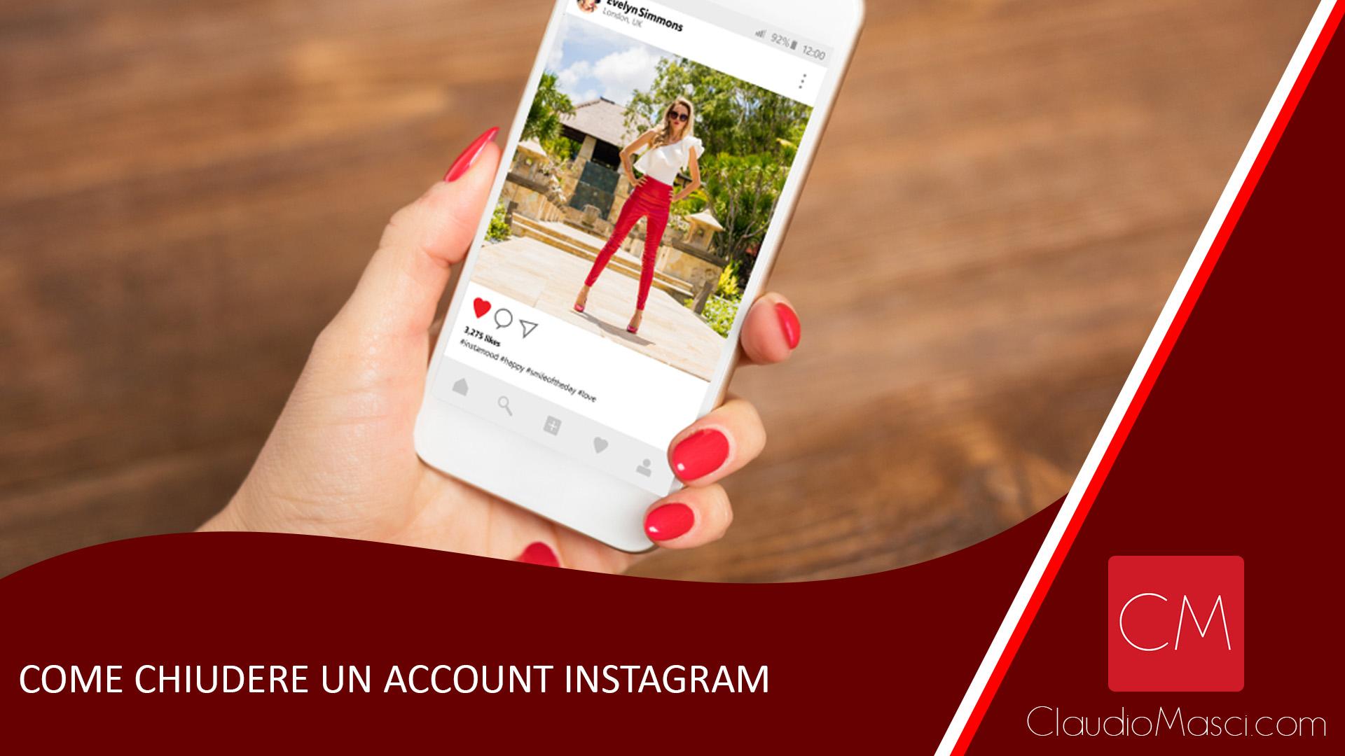 Come chiudere un account Instagram