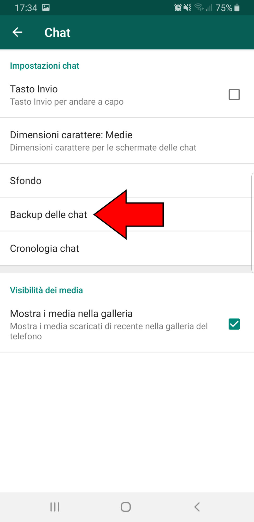 Come fare il backup di Whatsapp (3)