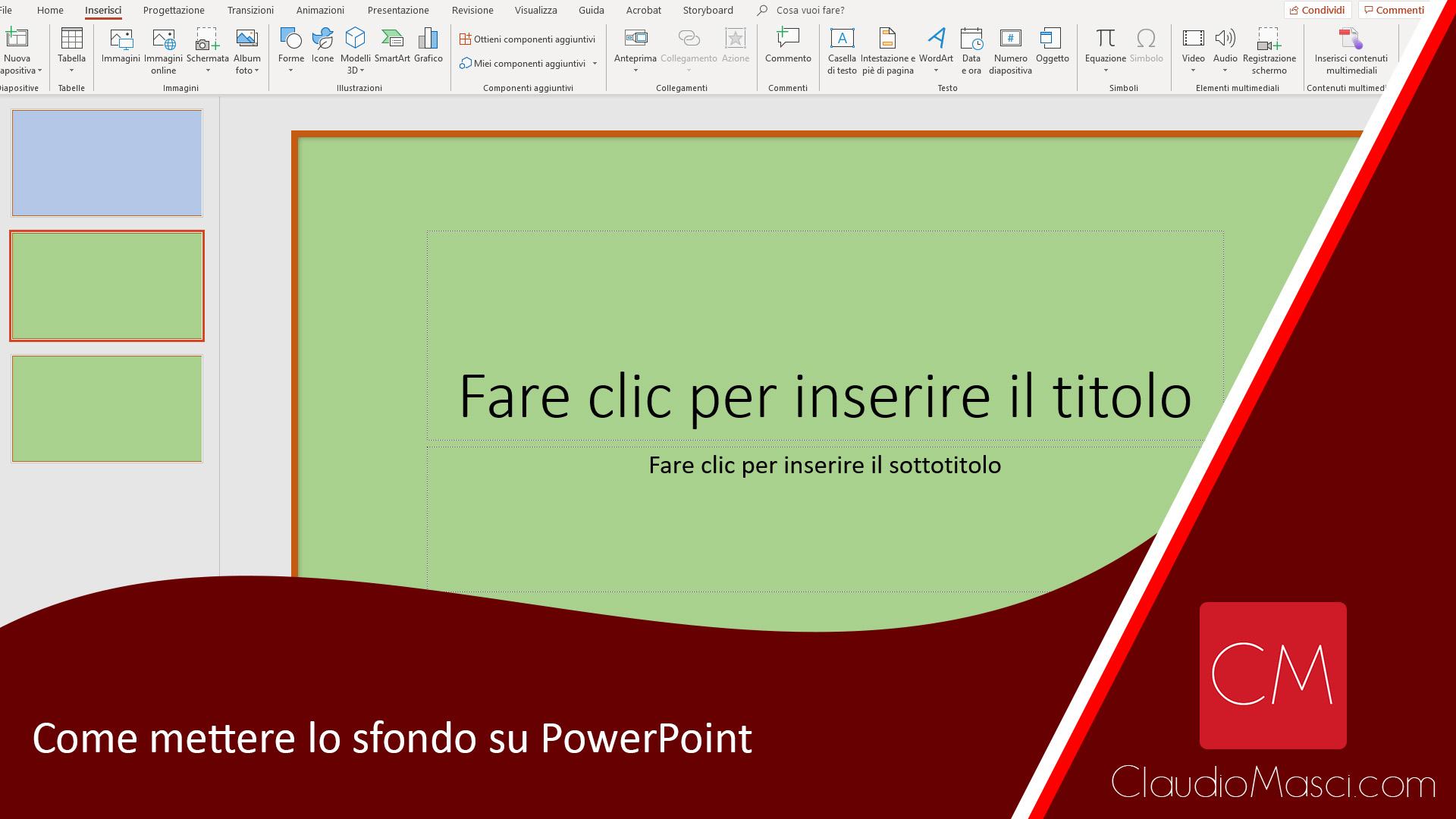 Come mettere lo sfondo su PowerPoint