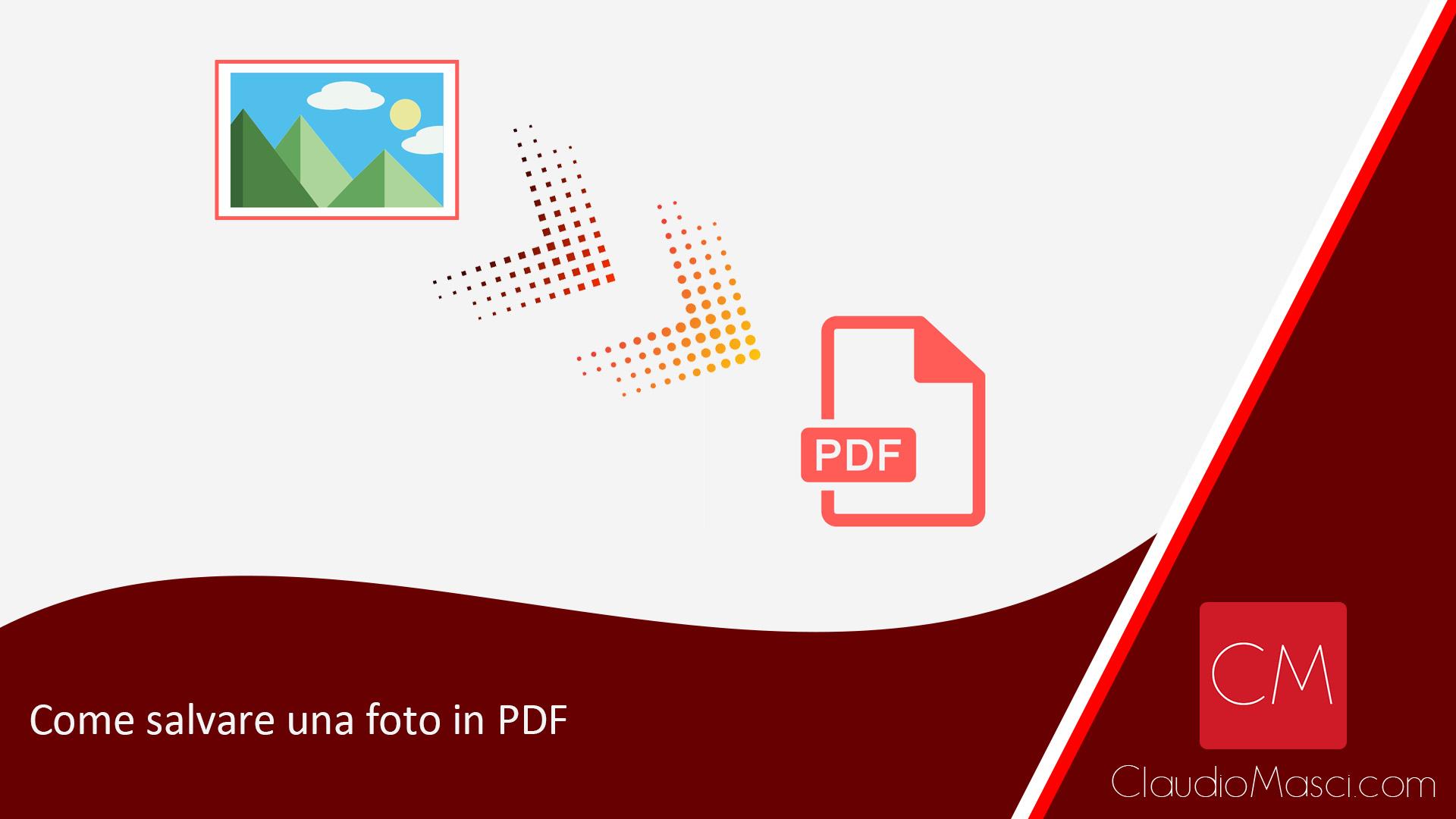 Come salvare una foto in PDF