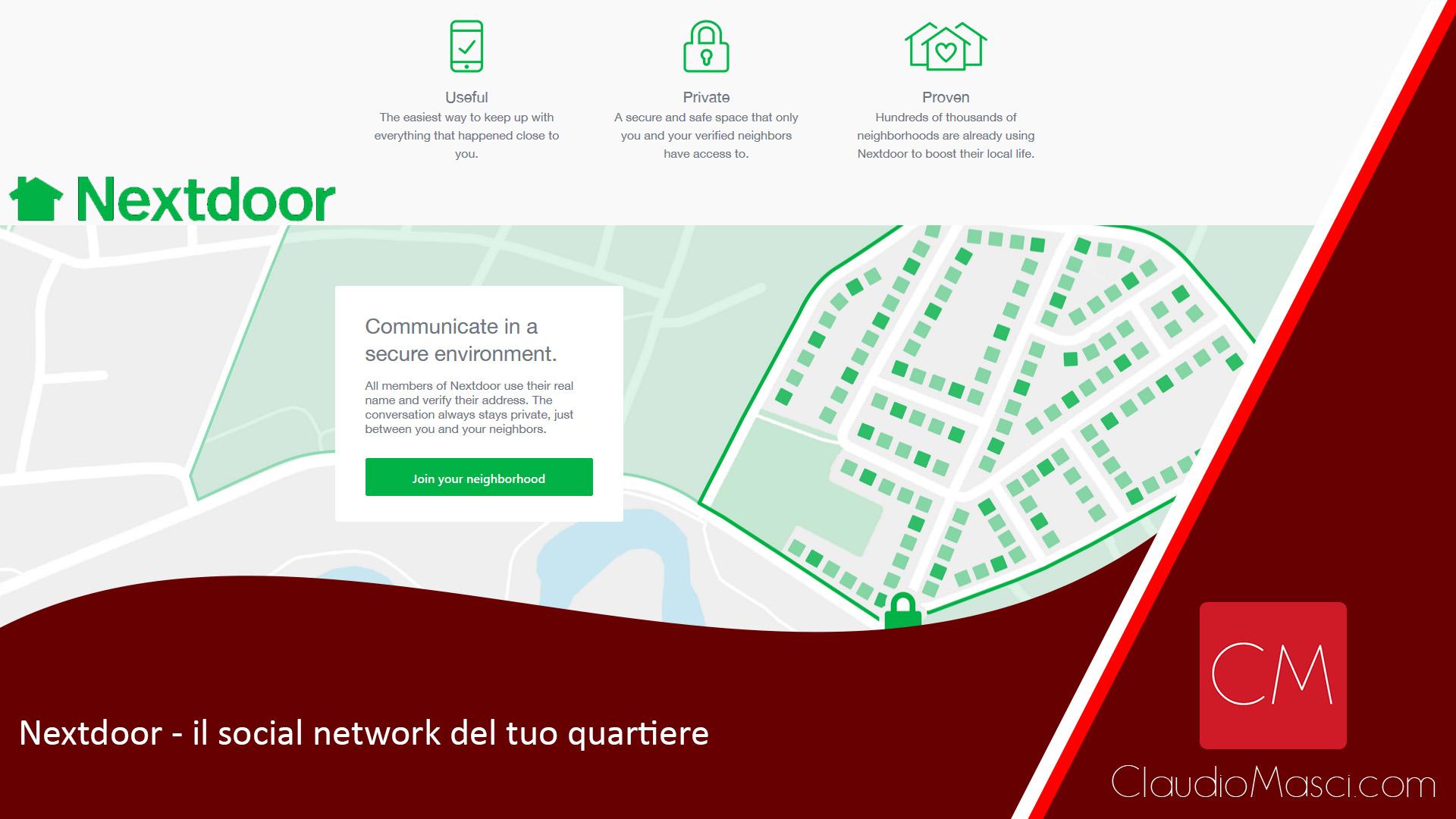 Nextdoor – il social network del tuo quartiere