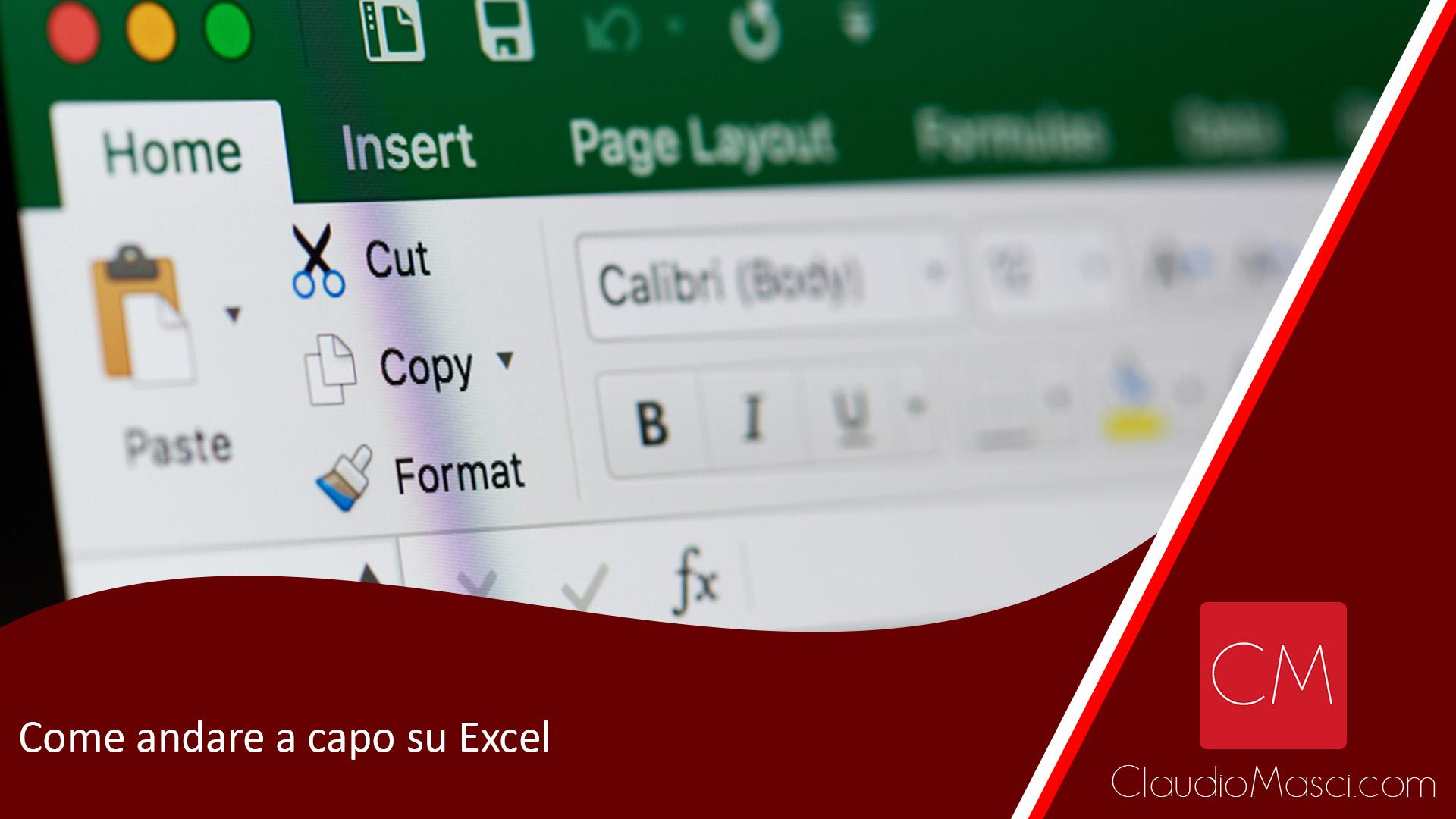 Come andare a capo su Excel