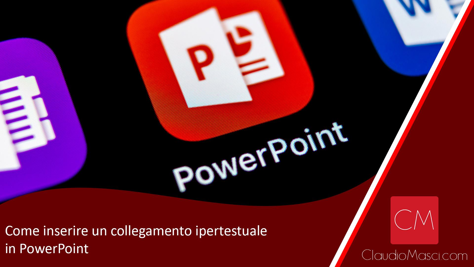 Come inserire un collegamento ipertestuale in PowerPoint