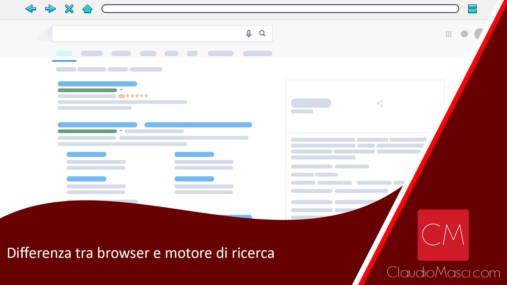 Differenza tra browser e motore di ricerca