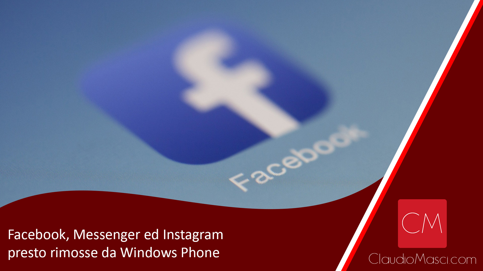 Facebook, Messenger ed Instagram presto rimosse da Windows Phone