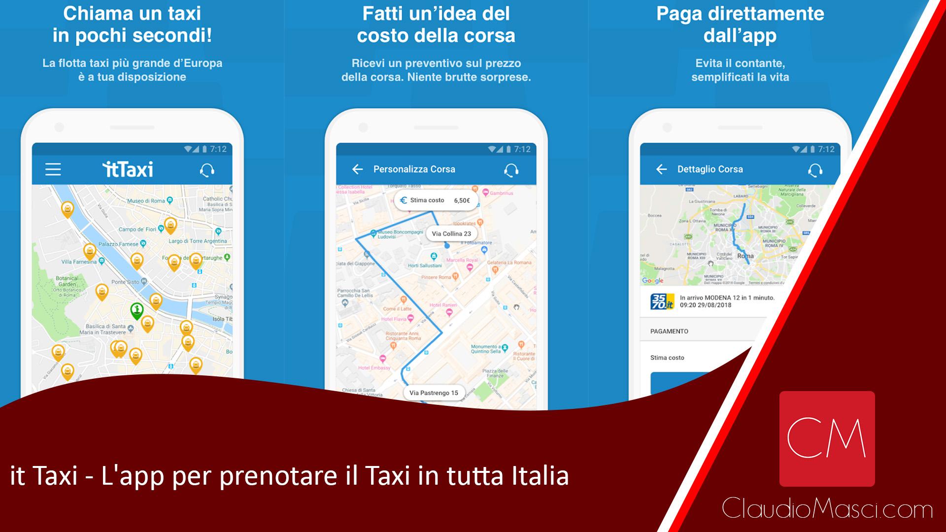 it Taxi – L'app per prenotare il Taxi in tutta Italia