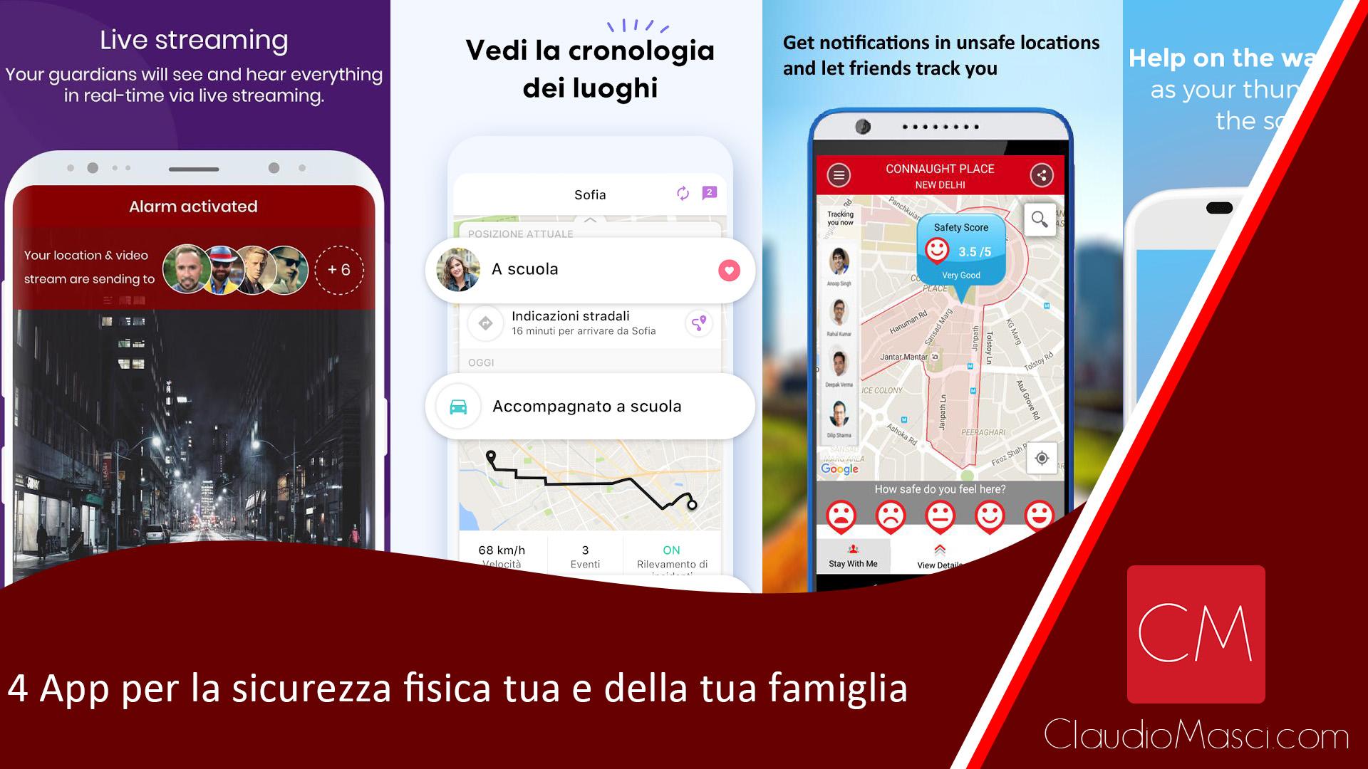 4 App per la sicurezza fisica tua e della tua famiglia