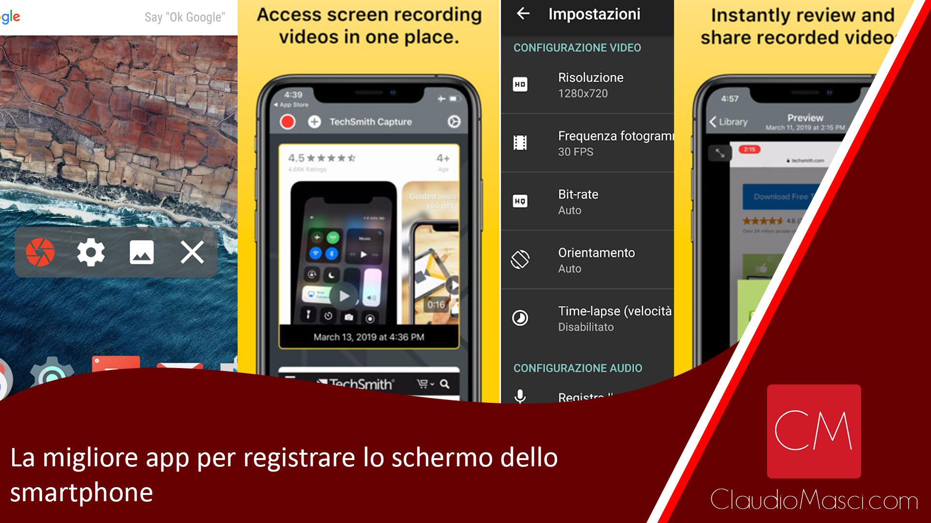La migliore app per registrare lo schermo dello smartphone