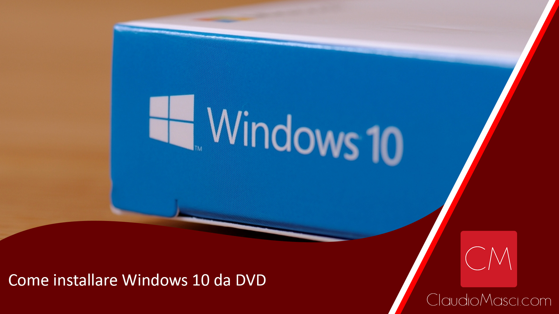Come installare Windows 10 da DVD