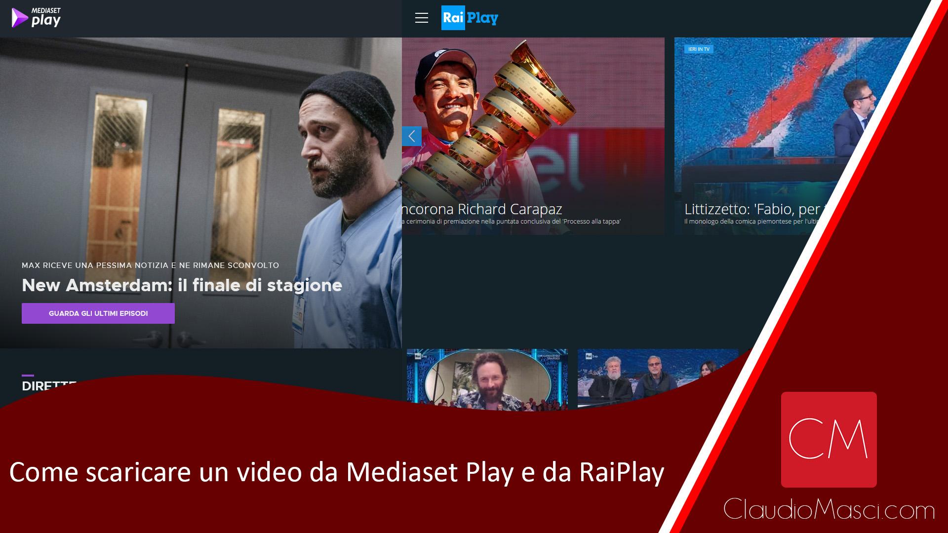 Come scaricare un video da Mediaset Play e da RaiPlay