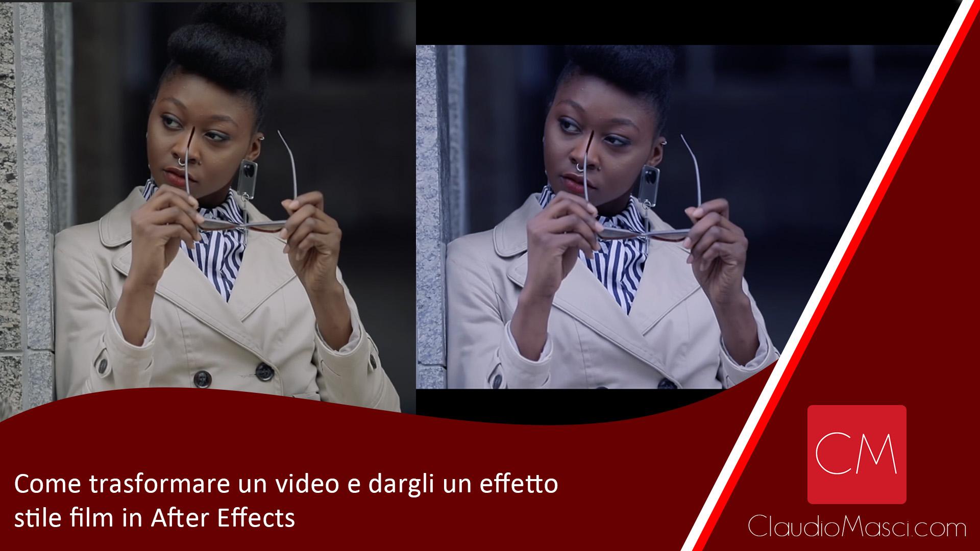 Come trasformare un video e dargli un effetto stile film in After Effects