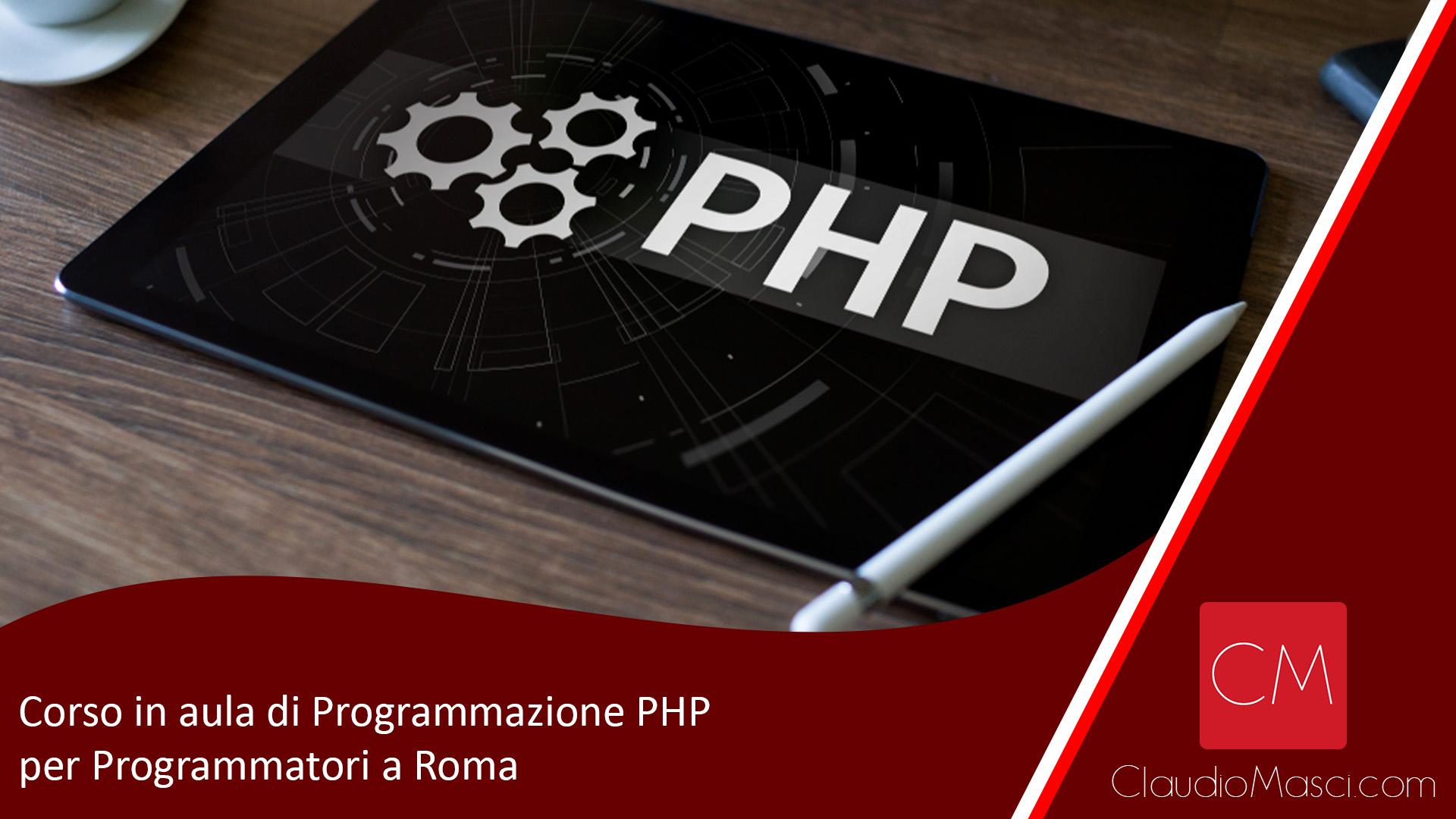 Corso in aula di Programmazione PHP per Programmatori a Roma