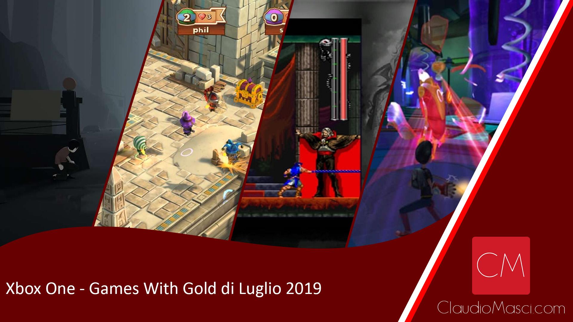 Games With Gold Luglio 2019 – Xbox One e Xbox 360