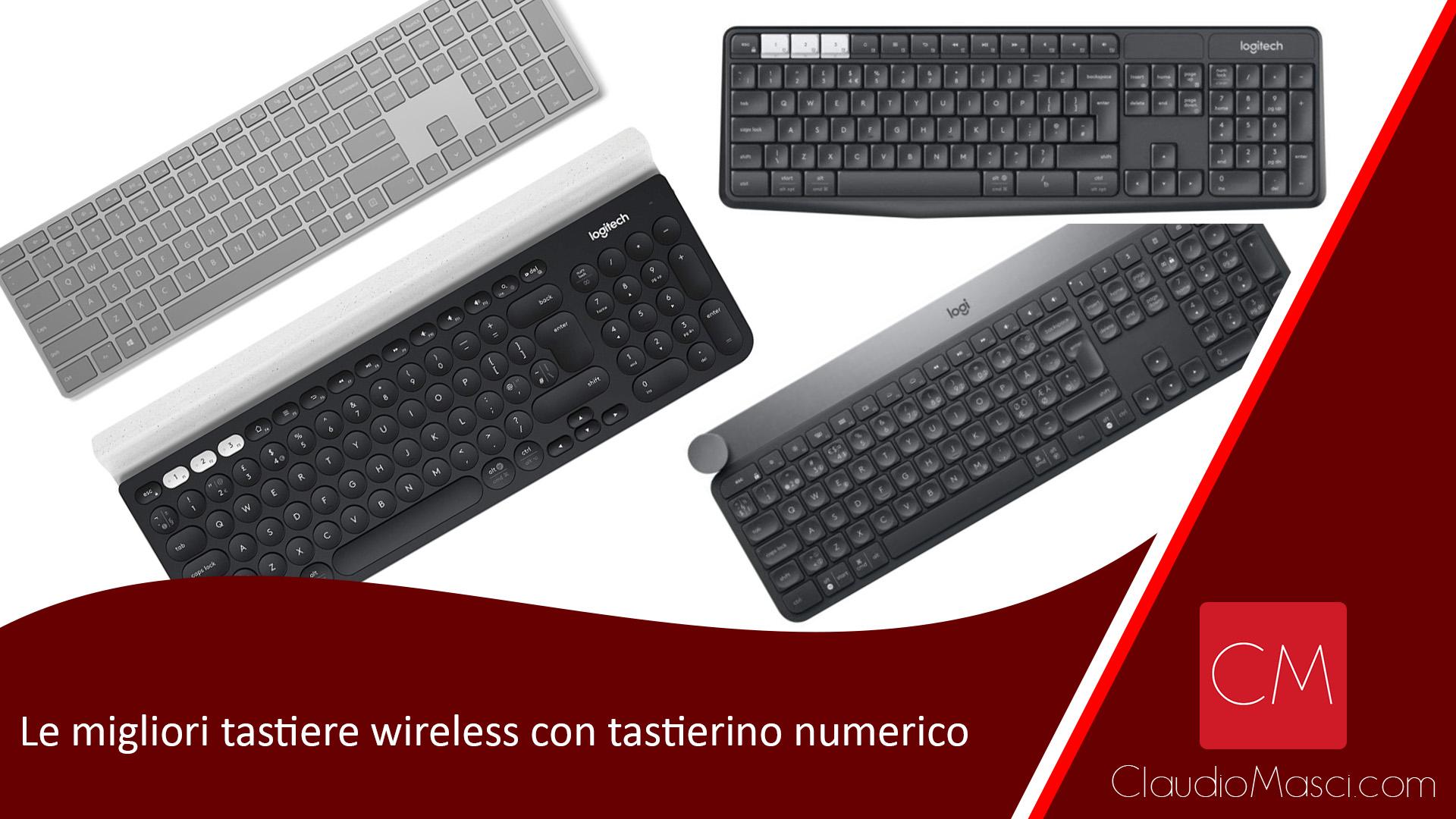 Le migliori tastiere wireless con tastierino numerico per PC