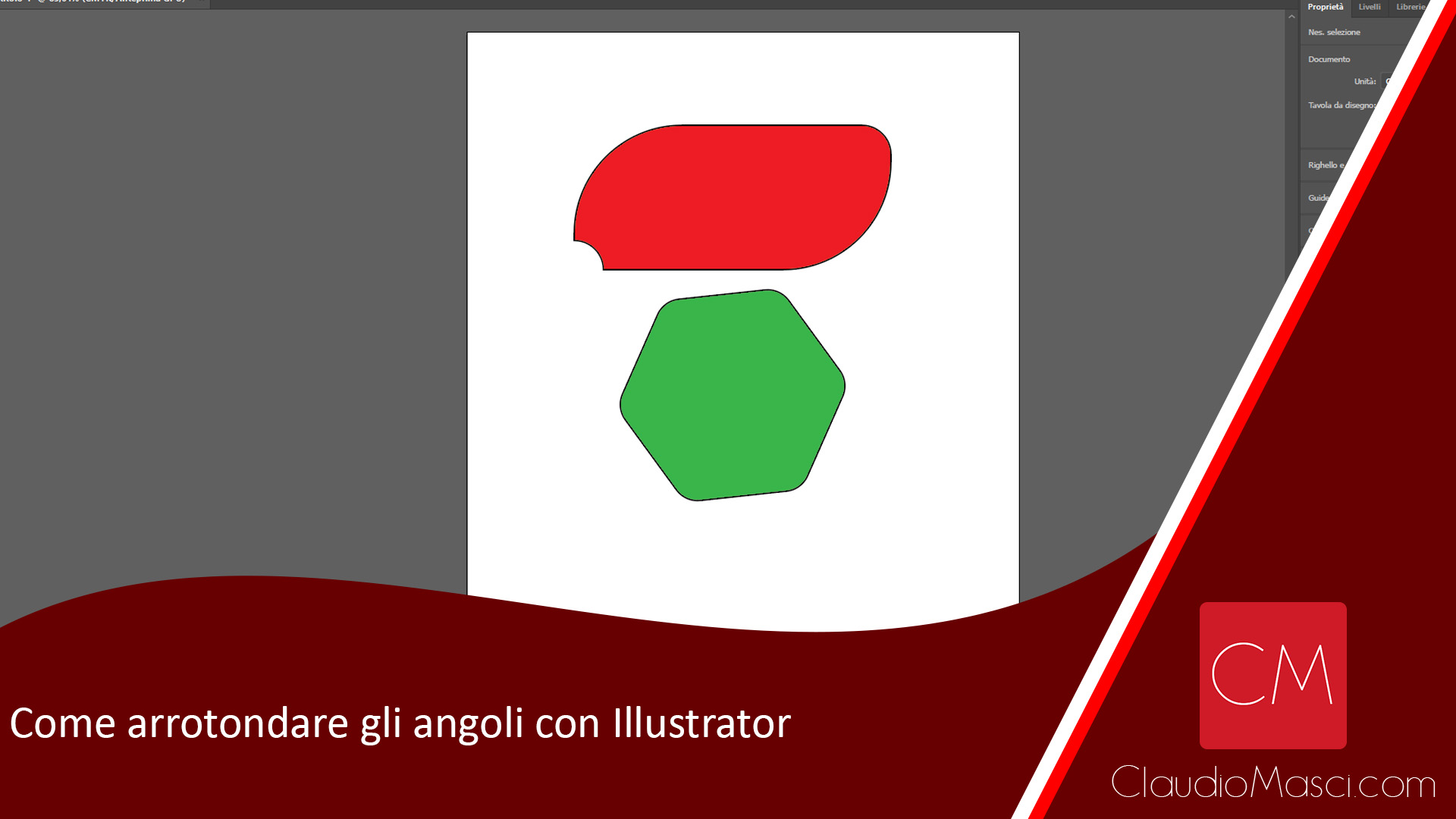 Come arrotondare gli angoli con Illustrator