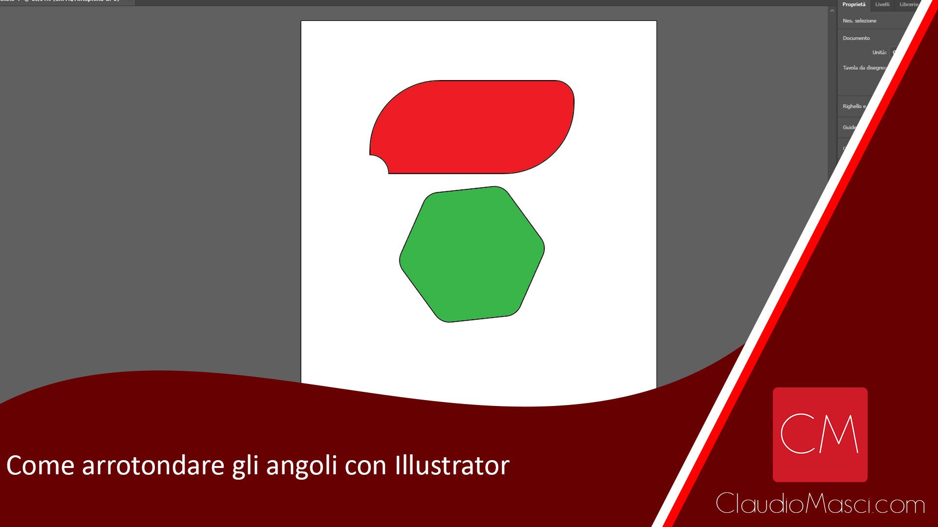 Come arrotondare gli angoli con Illustrator