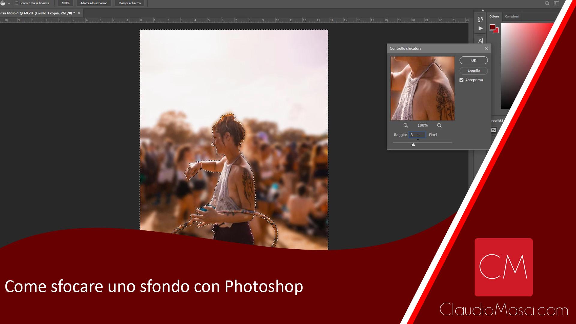 Come sfocare uno sfondo con Photoshop