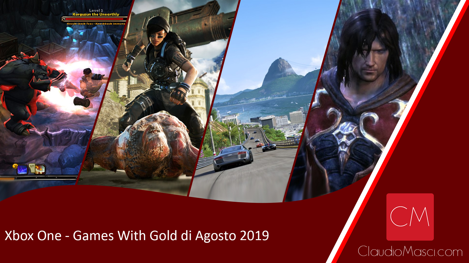 Games With Gold Agosto 2019 – Xbox One e Xbox 360