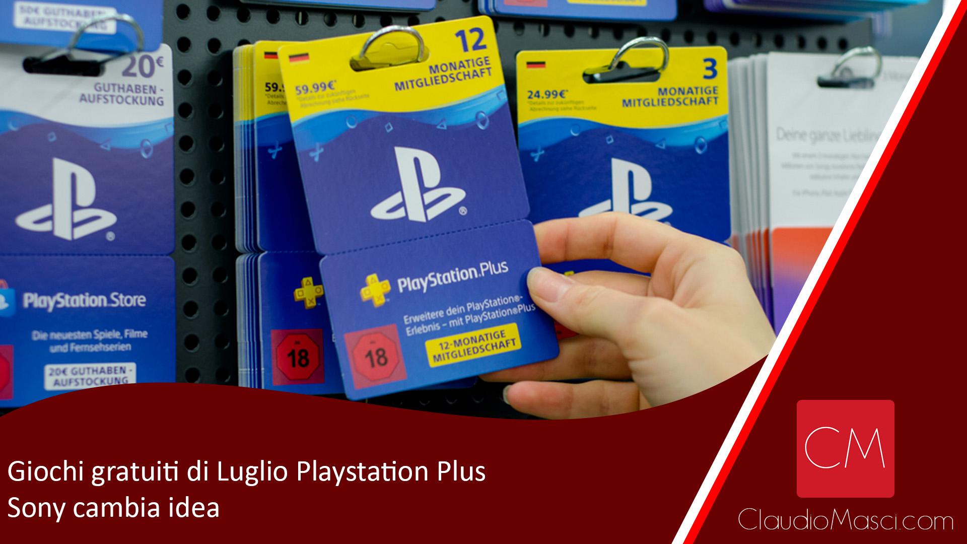 Giochi gratuiti di Luglio Playstation Plus, Sony cambia idea