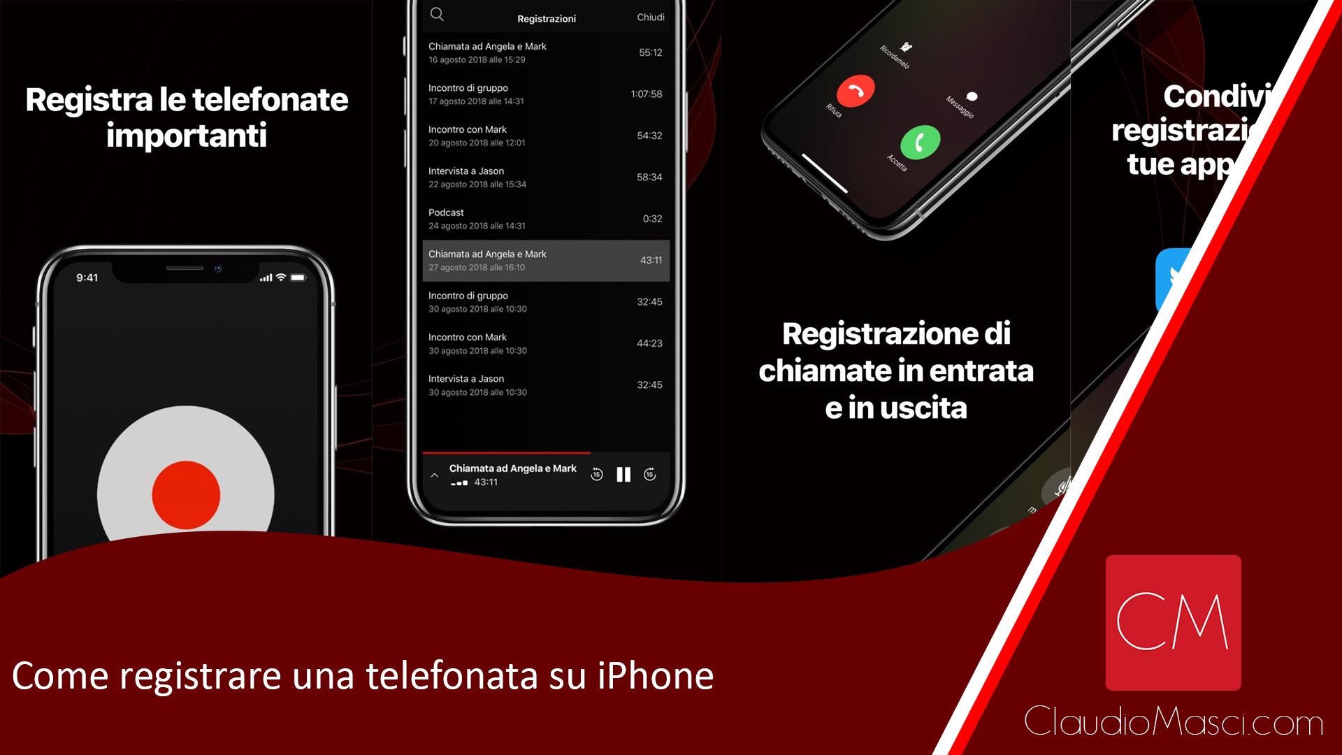 Come registrare una telefonata su iPhone