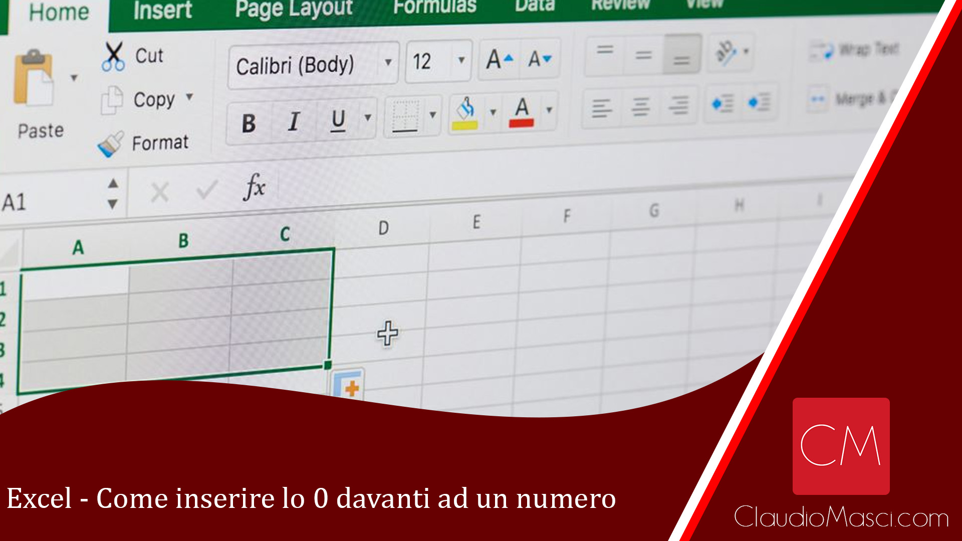 Come inserire lo zero davanti ad un numero in Excel