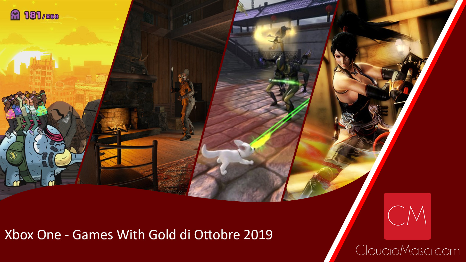 Xbox One – Games With Gold di Ottobre 2019