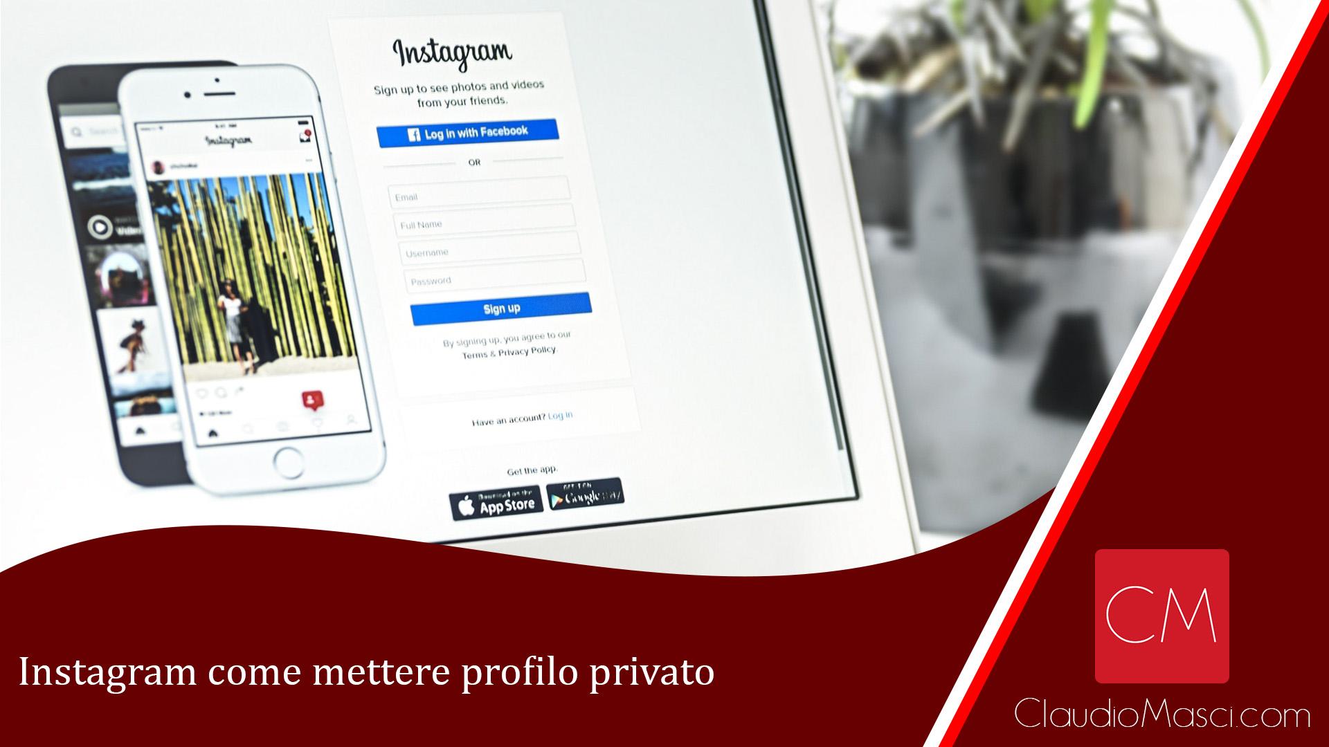 Instagram come mettere profilo privato
