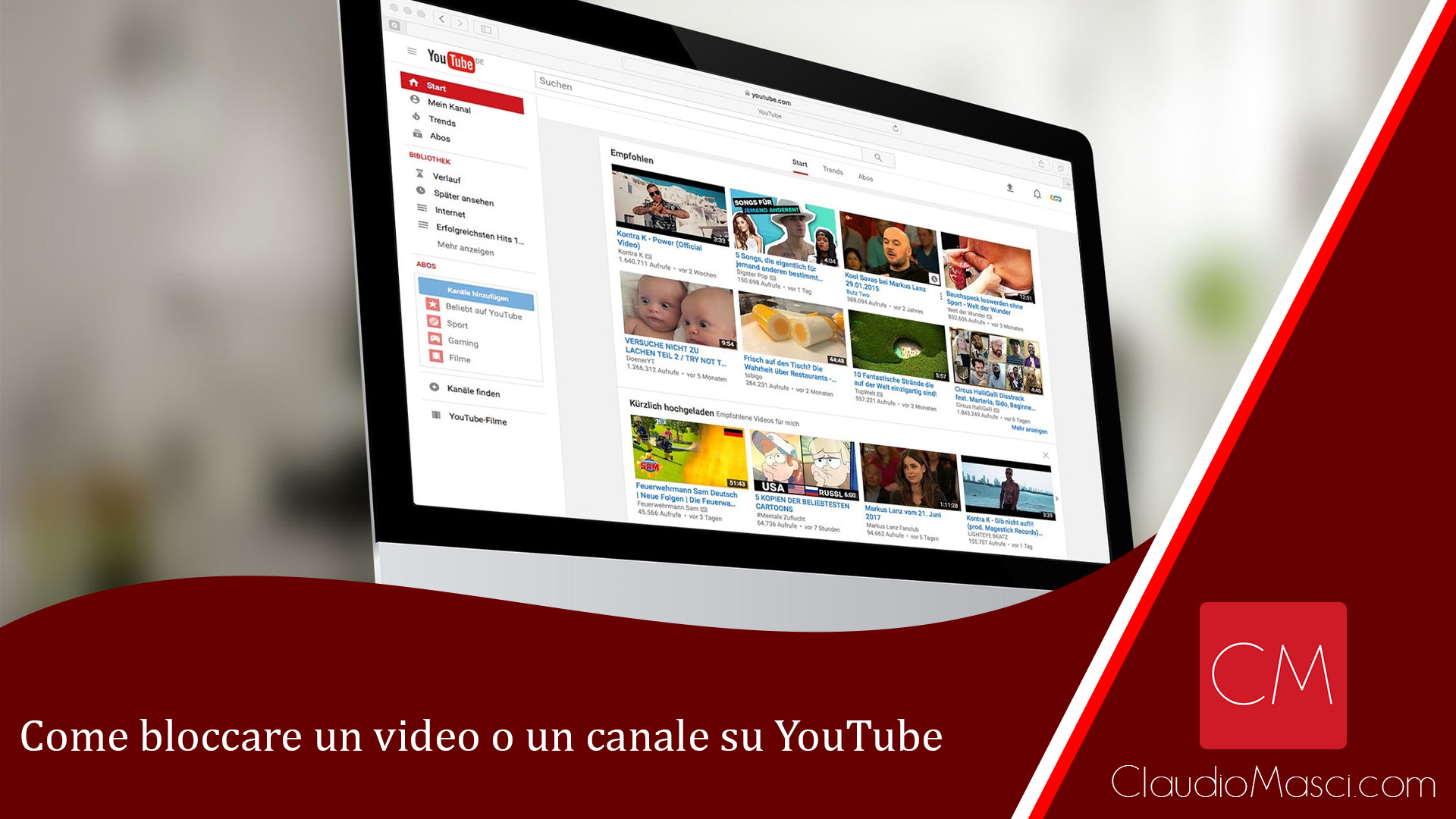 Come bloccare un video o un canale su YouTube