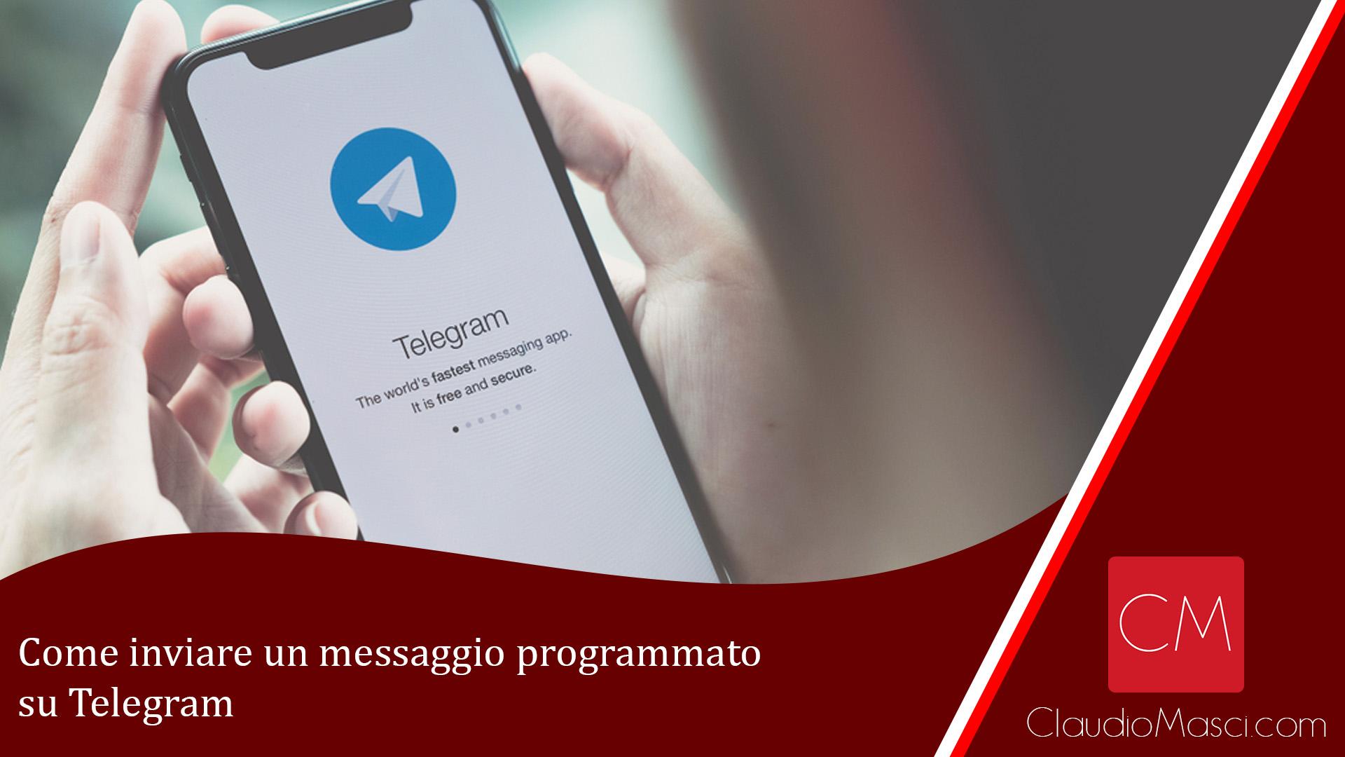 Come inviare un messaggio programmato su Telegram