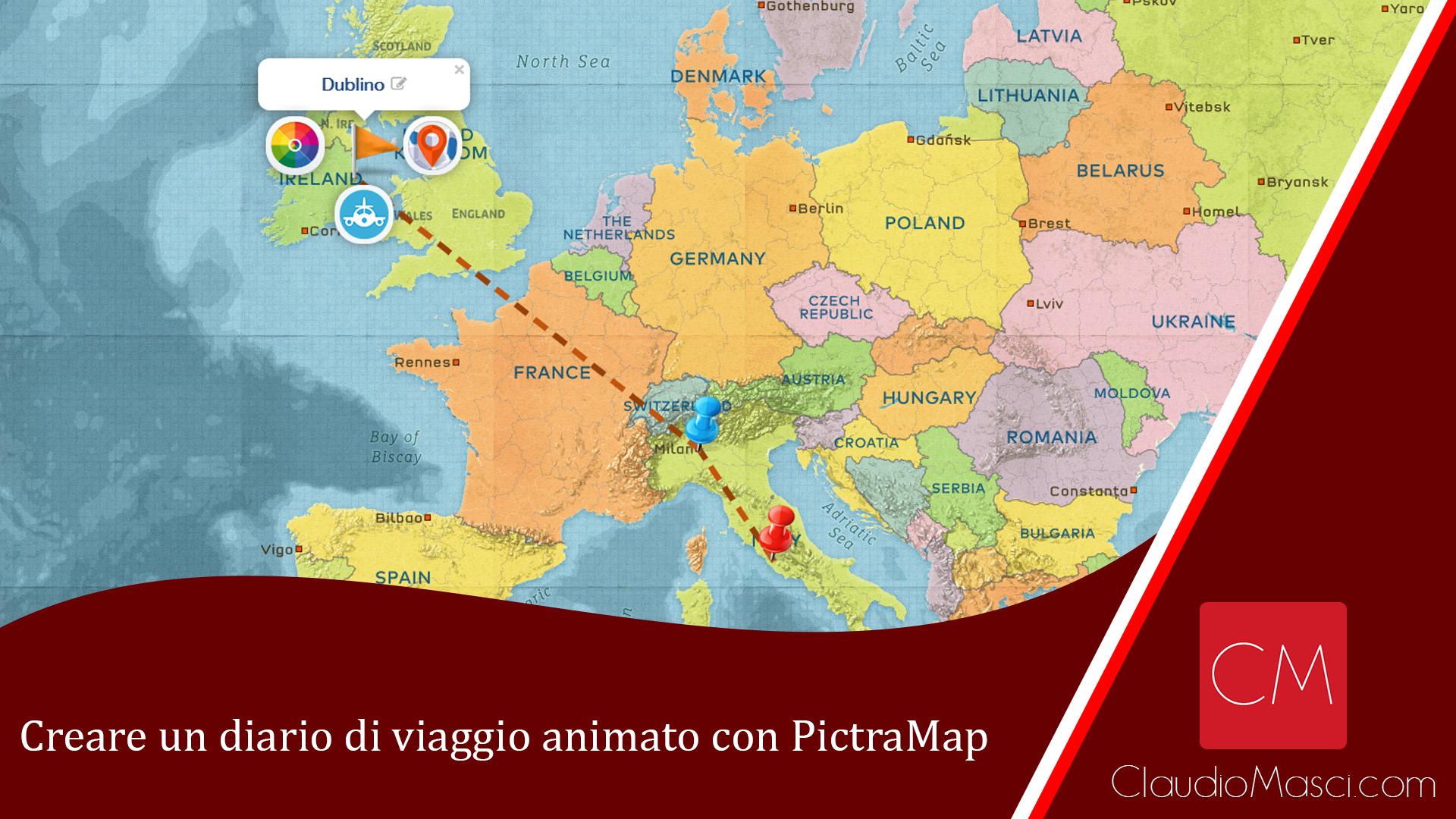 Creare un diario di viaggio animato con PictraMap