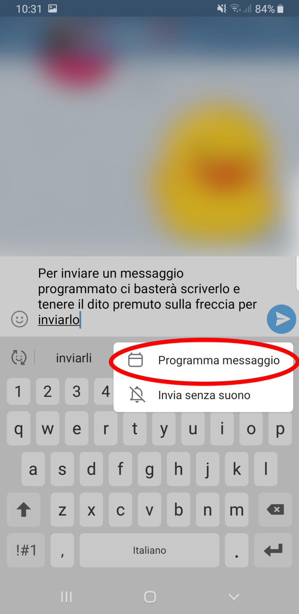 Messaggio Programmato Telegram - Programma Messaggio